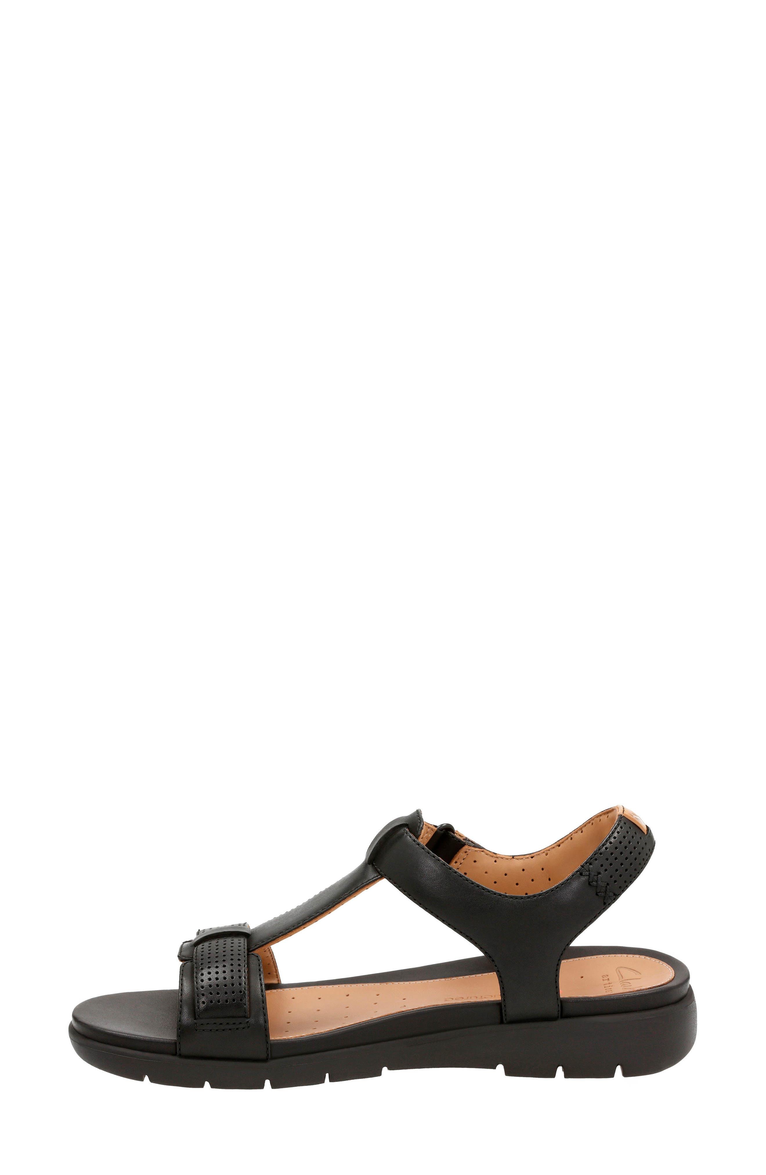 CLARKS<SUP>®</SUP>,                             Un Haywood T-Strap Sandal,                             Alternate thumbnail 2, color,                             003