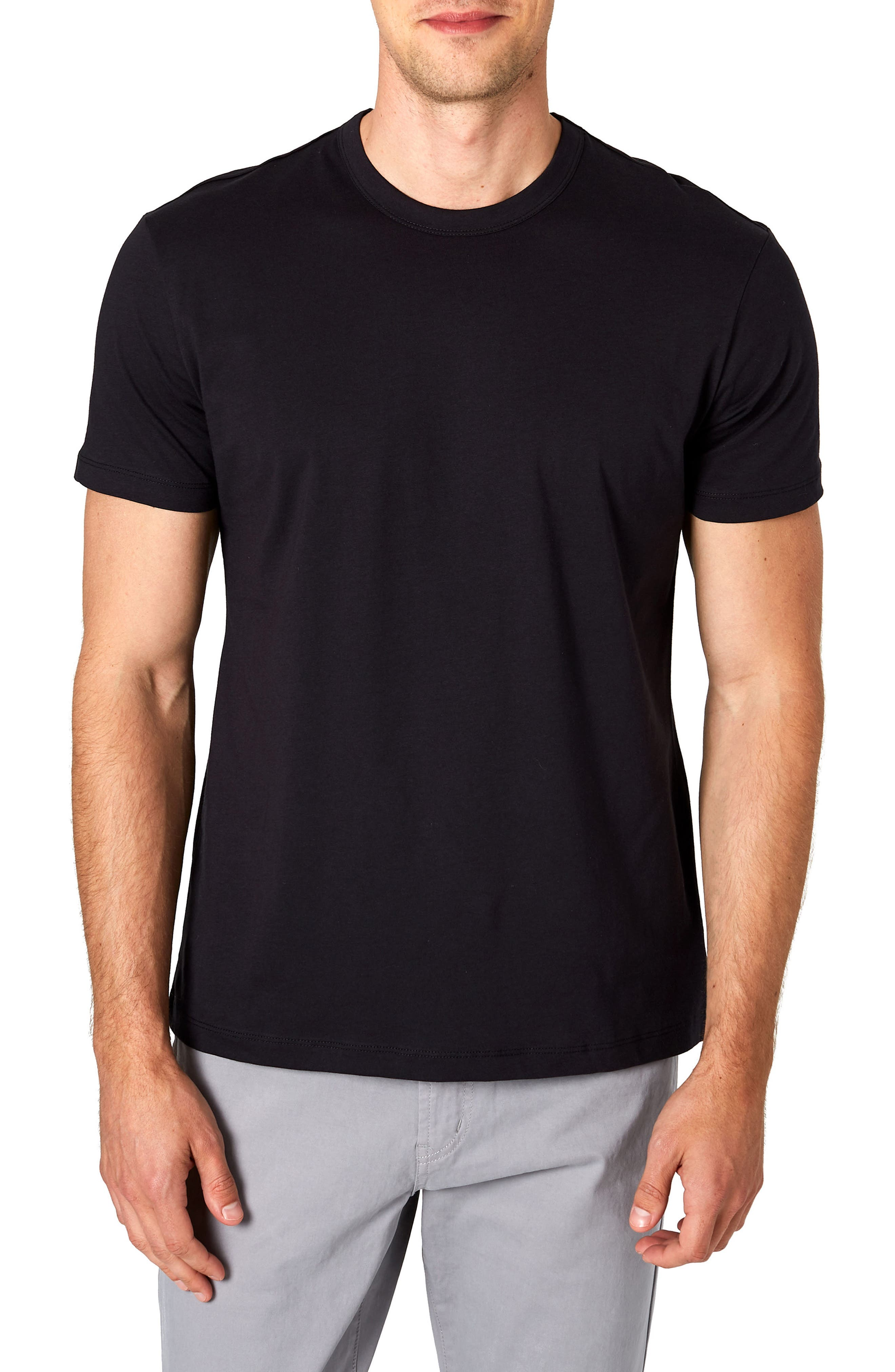 Iqonicq Crewneck T-Shirt,                             Main thumbnail 1, color,                             BLACK
