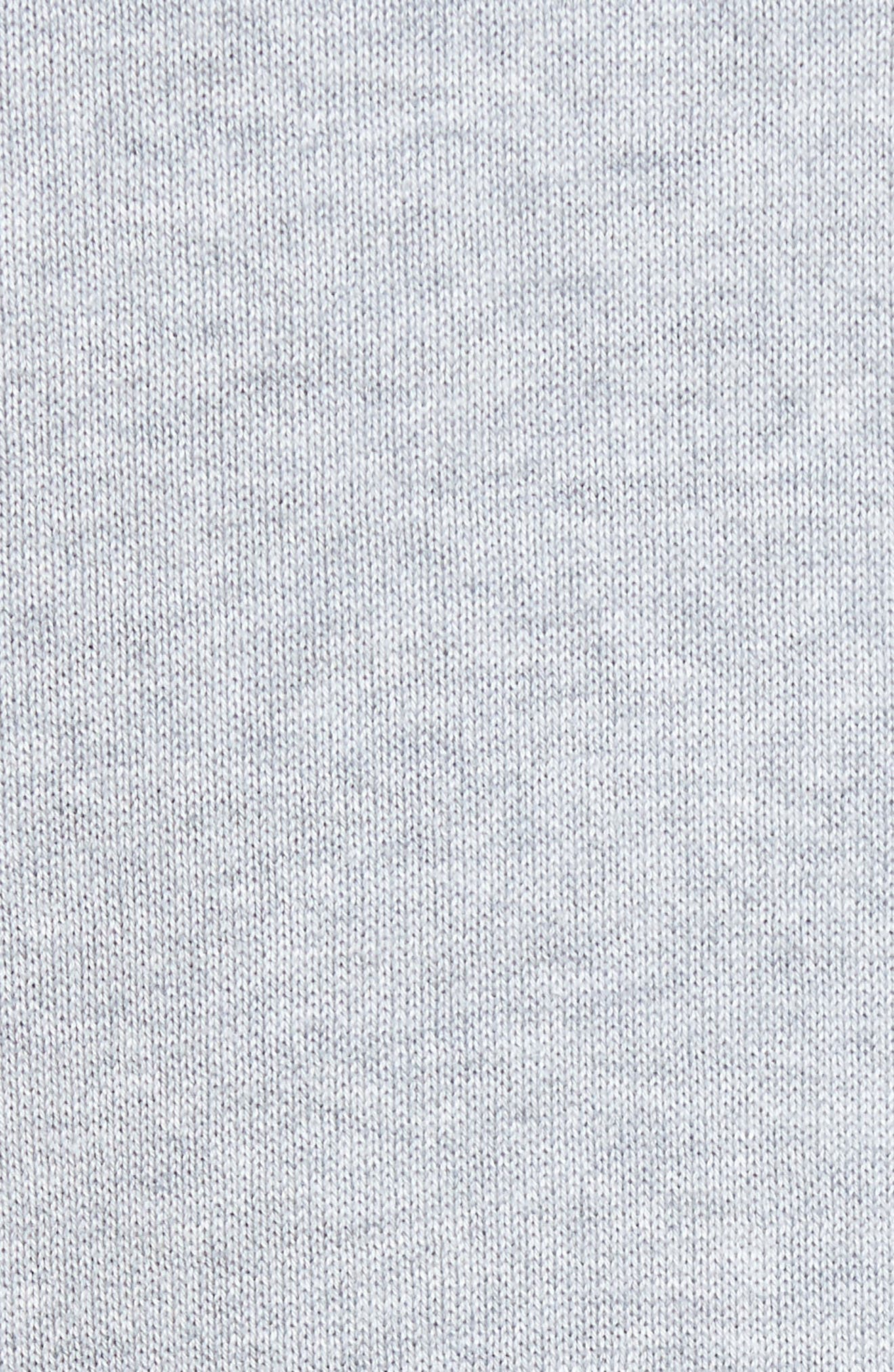 Piqué Jersey V-Neck Sweater,                             Alternate thumbnail 5, color,                             078