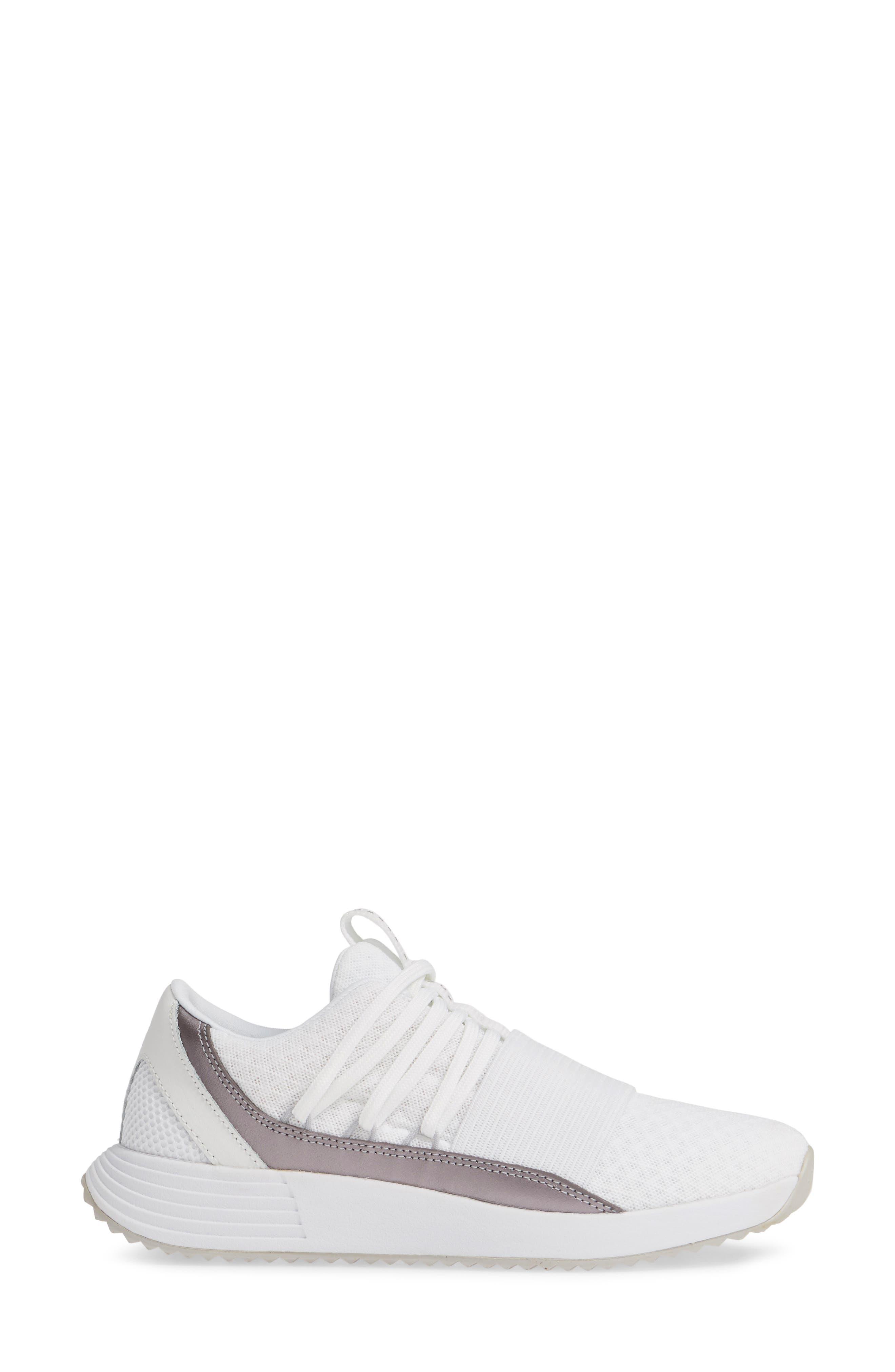 UNDER ARMOUR,                             Breathe Lace X NM Sneaker,                             Alternate thumbnail 3, color,                             WHITE/ WHITE/ METALLIC BLUSH