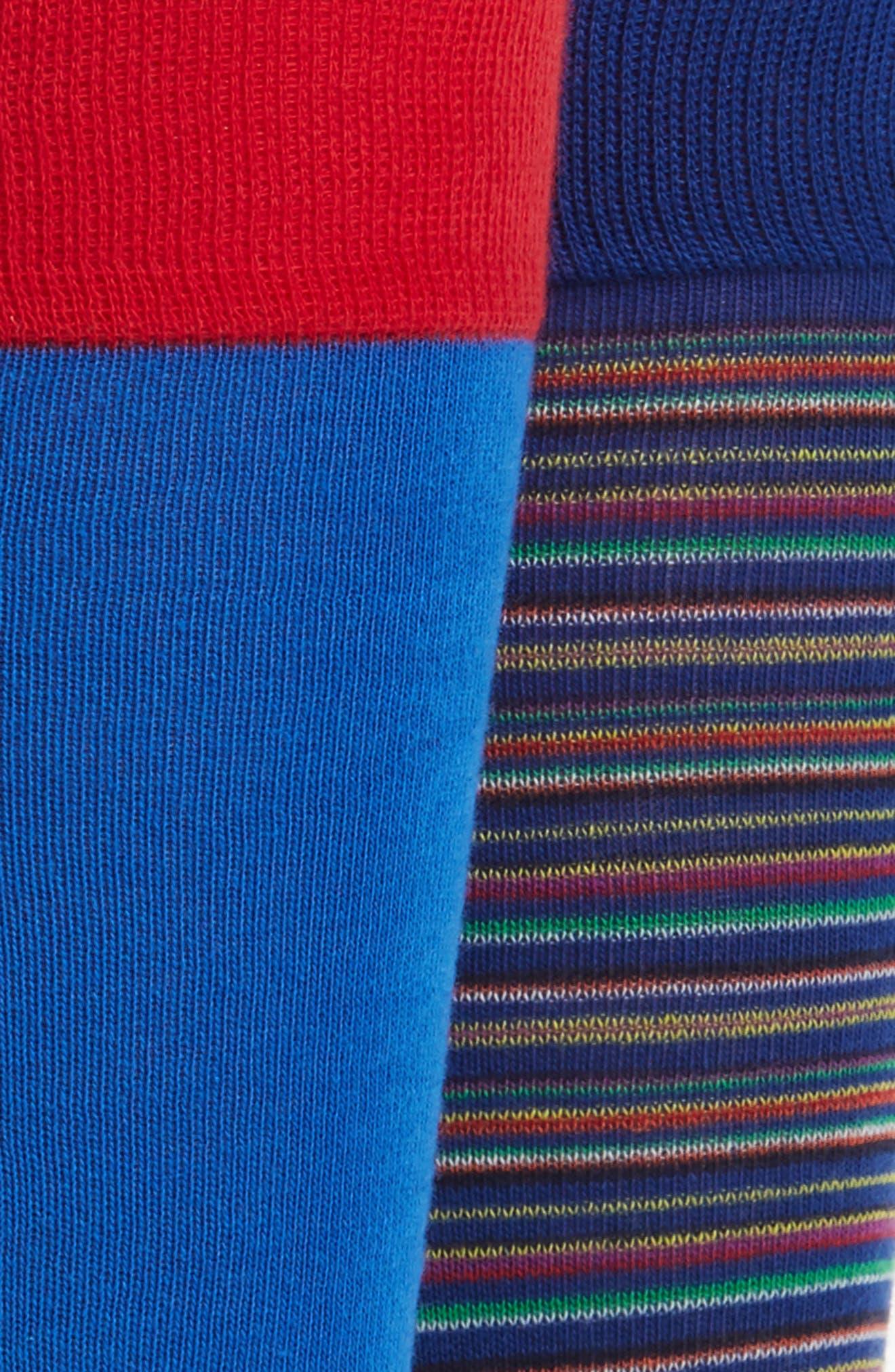 Stripe 2-Pack Socks,                             Alternate thumbnail 3, color,                             460