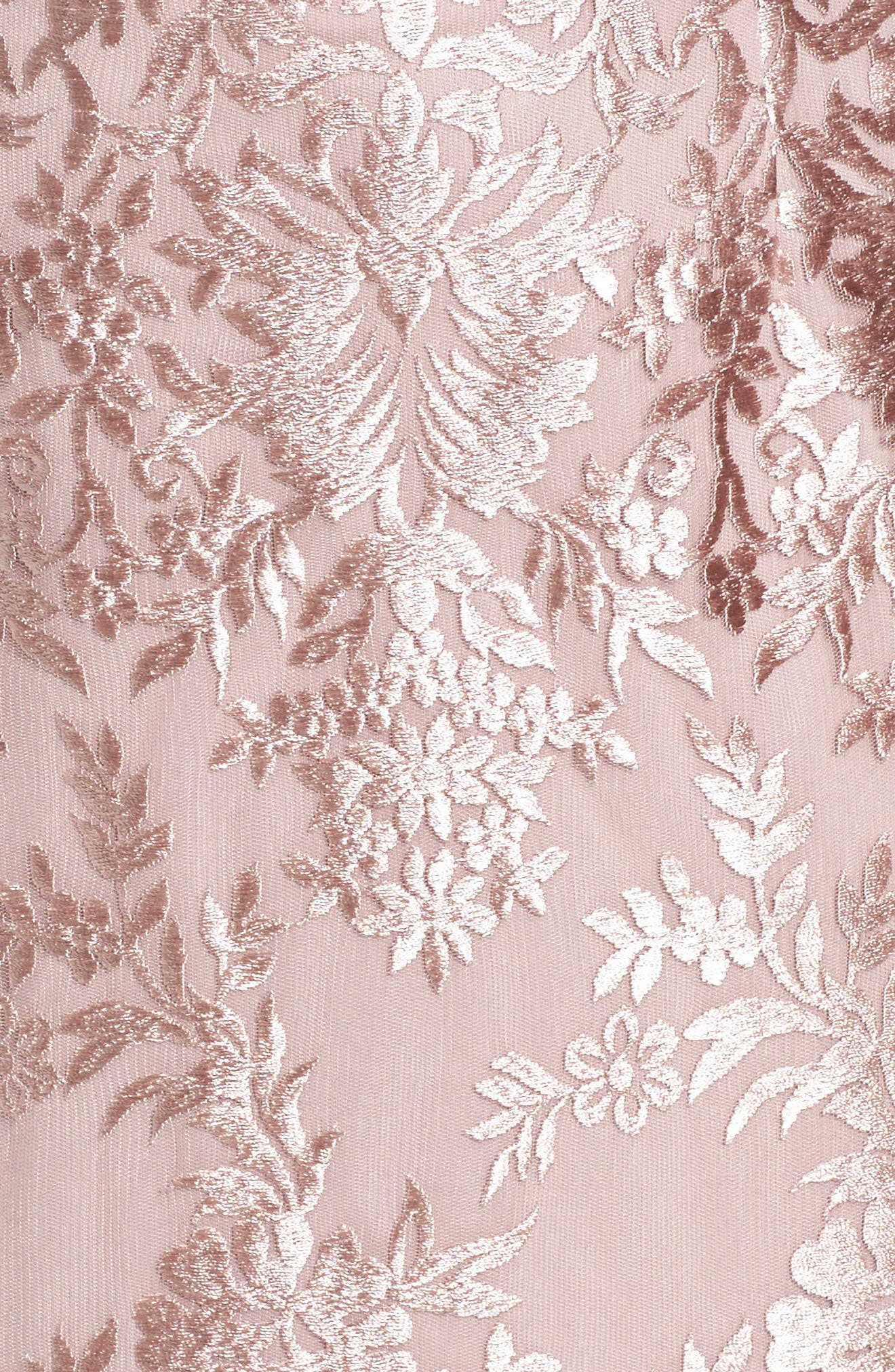 Lace A-Line Gown,                             Alternate thumbnail 5, color,                             DUSTY PINK