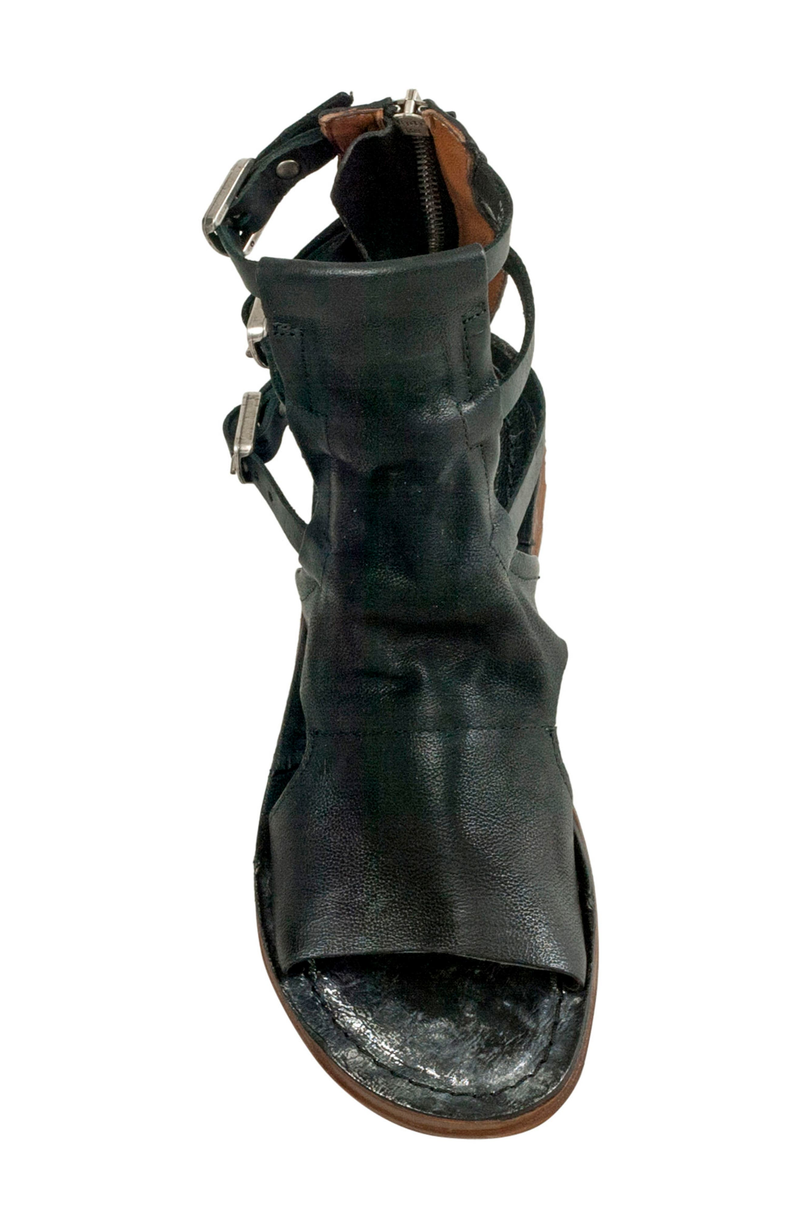 Ryde Sandal,                             Alternate thumbnail 5, color,                             BLACK LEATHER