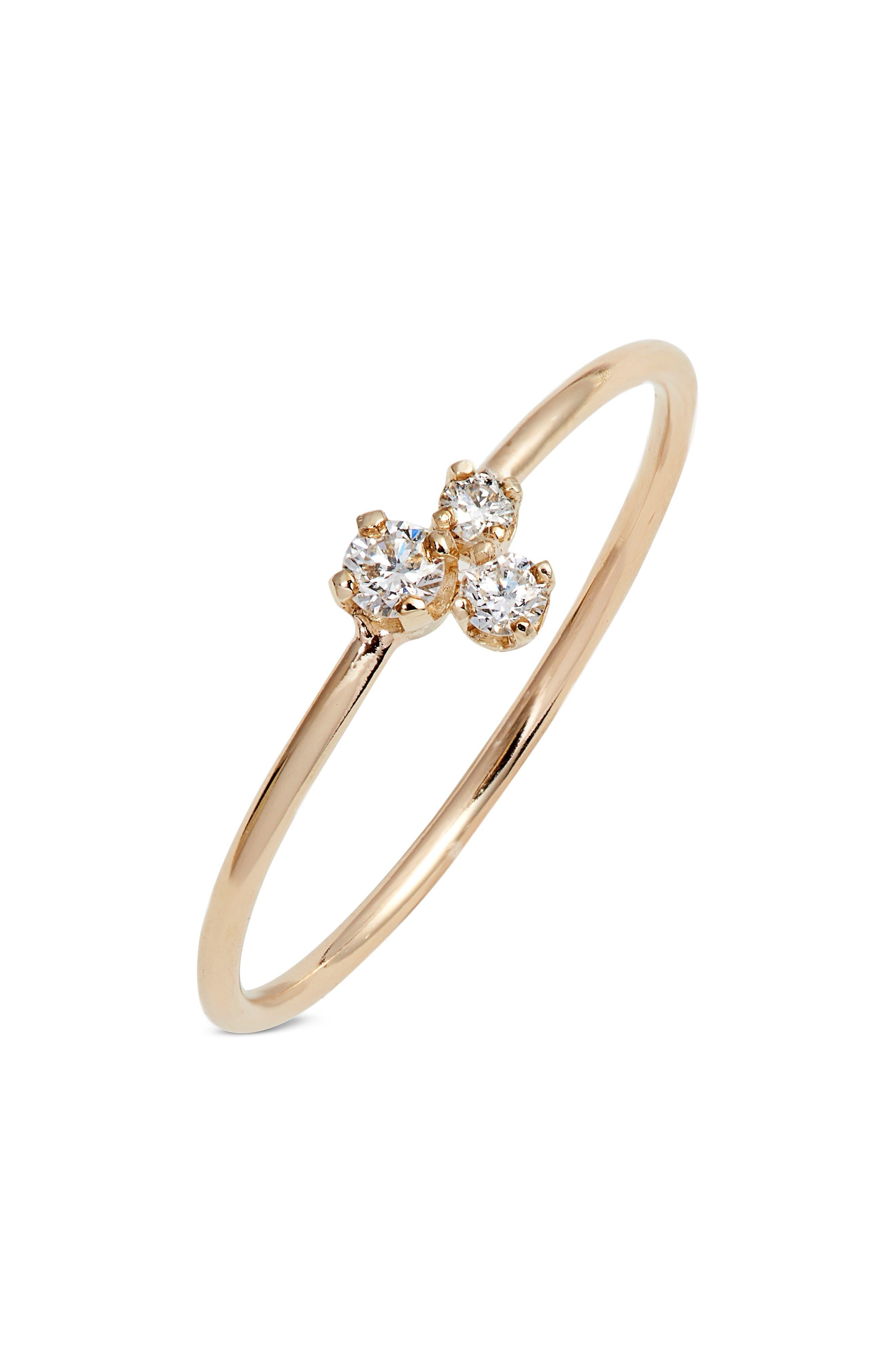 Mixed Diamond Ring,                             Main thumbnail 1, color,                             GOLD/ DIAMOND