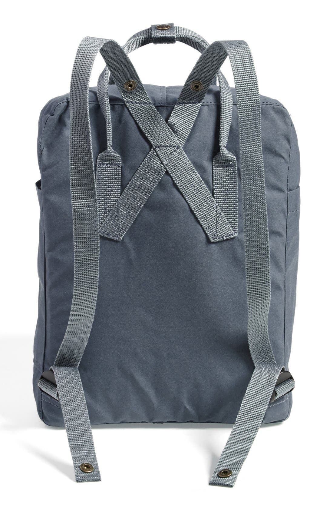 FJÄLLRÄVEN,                             Kånken Water Resistant Backpack,                             Alternate thumbnail 7, color,                             GRAPHITE