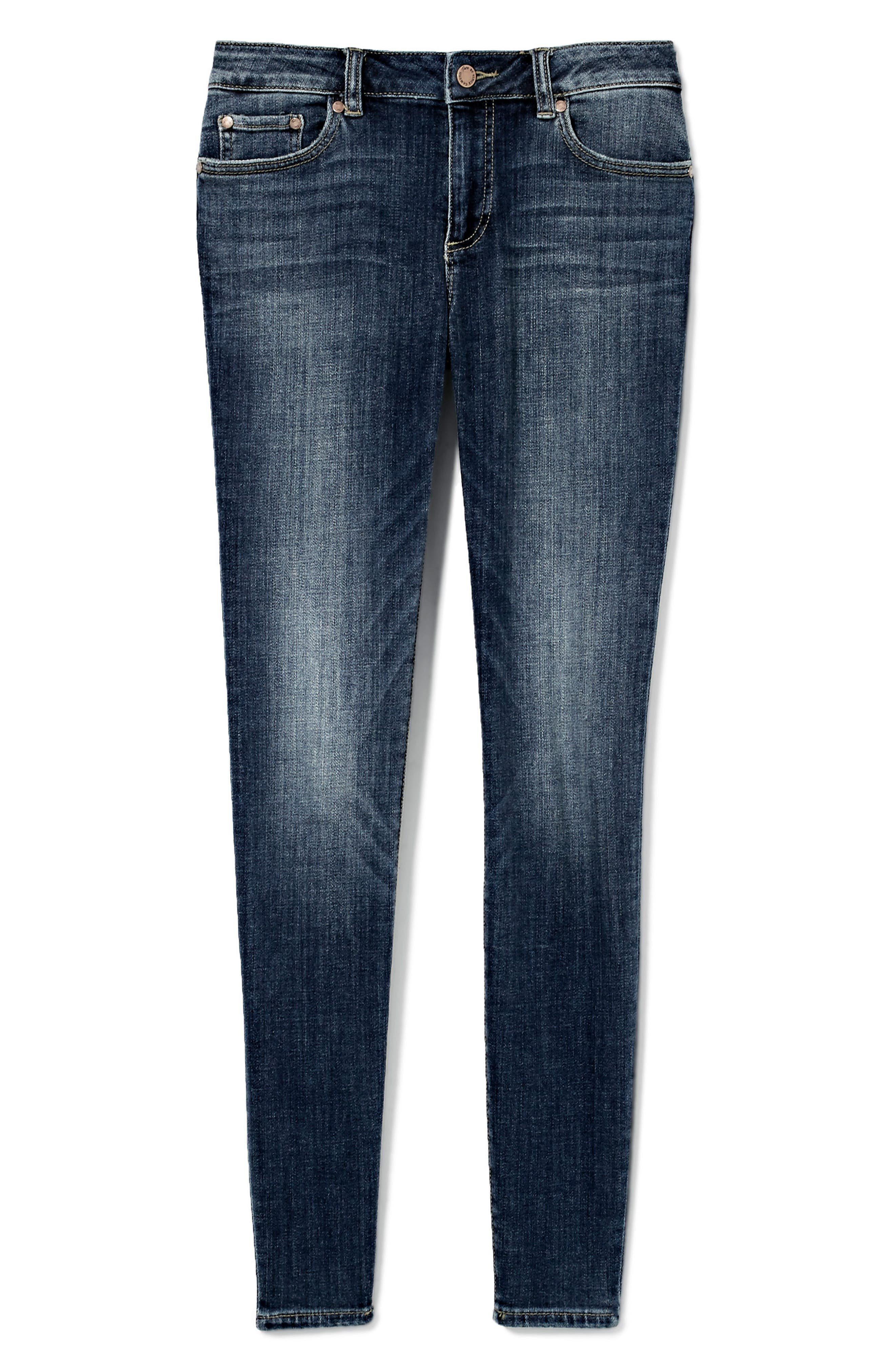 Stretch Skinny Jeans,                             Alternate thumbnail 2, color,                             DARK AUTHENTIC