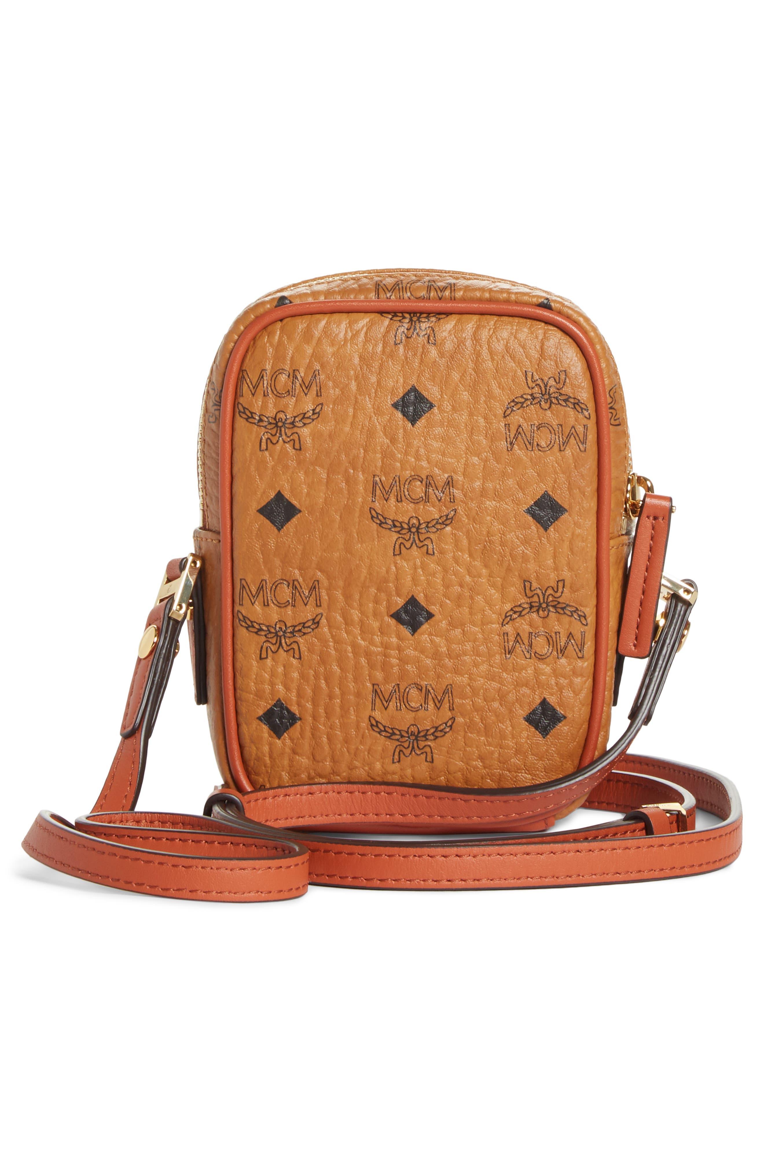 Mini Vintage Crossbody Bag,                             Alternate thumbnail 3, color,                             COGNAC