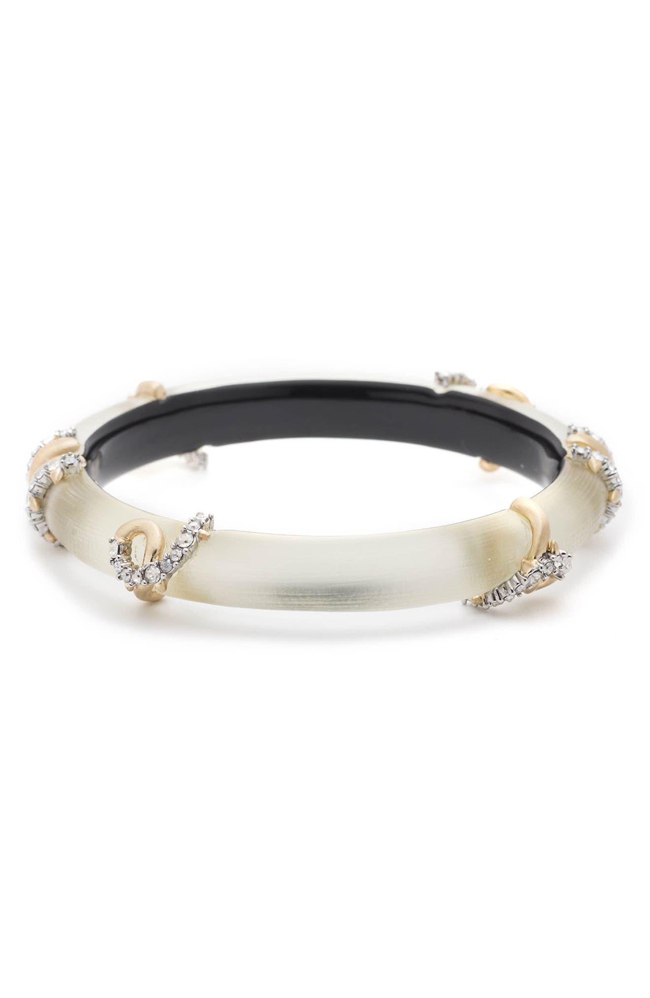 Crystal Encrusted Open Knot Bracelet,                             Alternate thumbnail 3, color,                             100