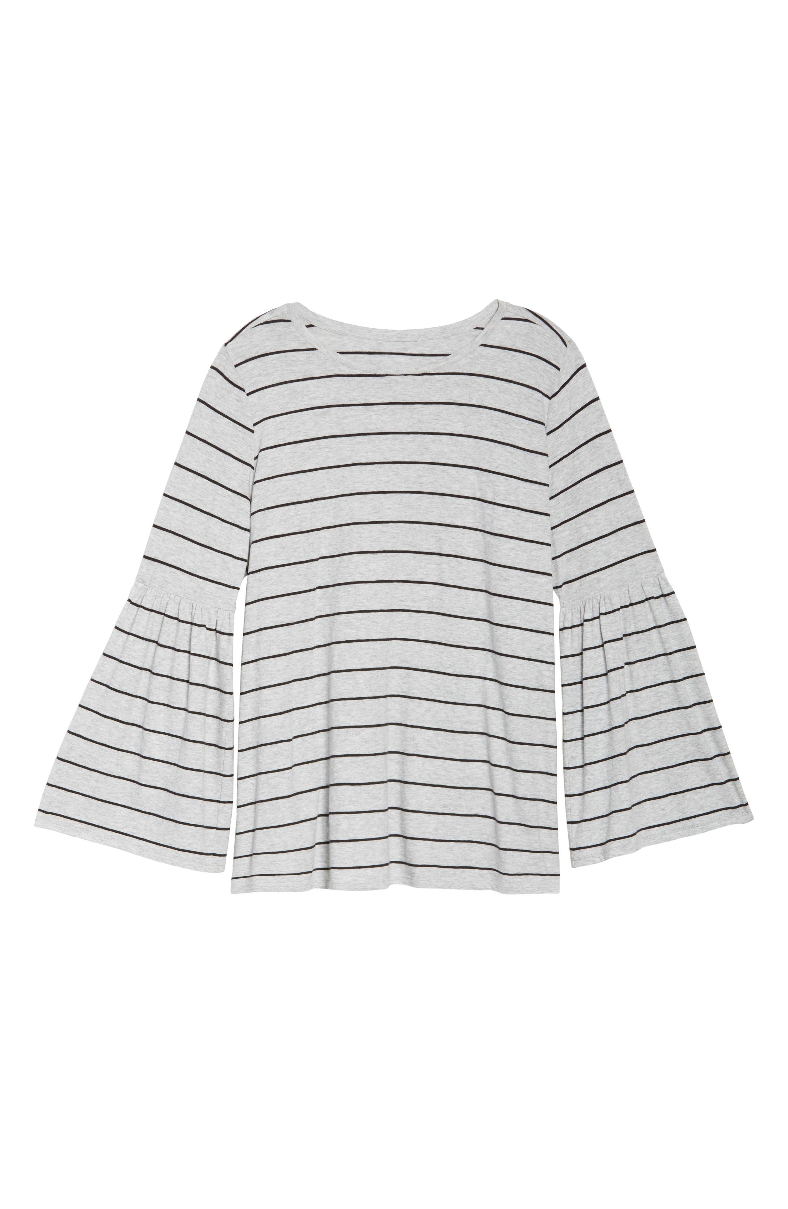 Nova Stripe Bell Sleeve Top,                             Alternate thumbnail 5, color,                             050