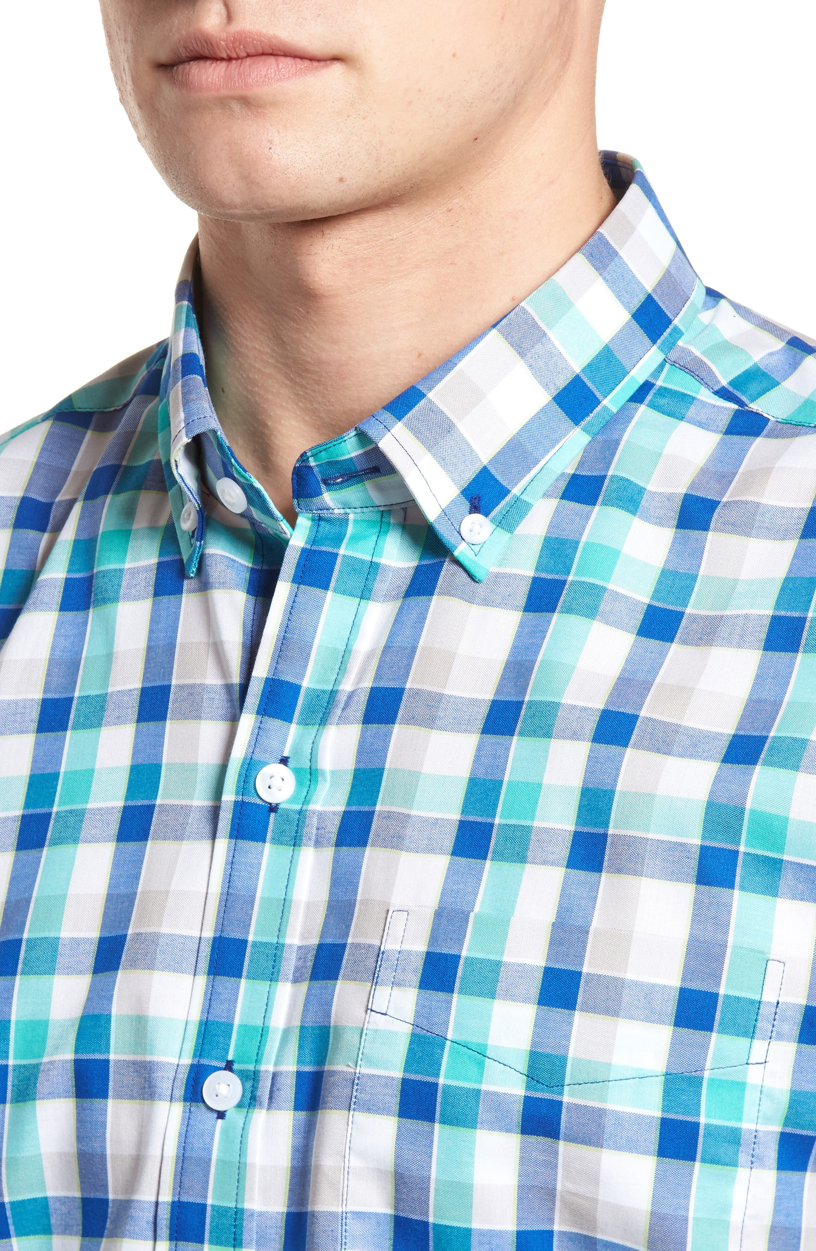 Dylan Classic Fit Easy Care Check Sport Shirt,                             Alternate thumbnail 10, color,
