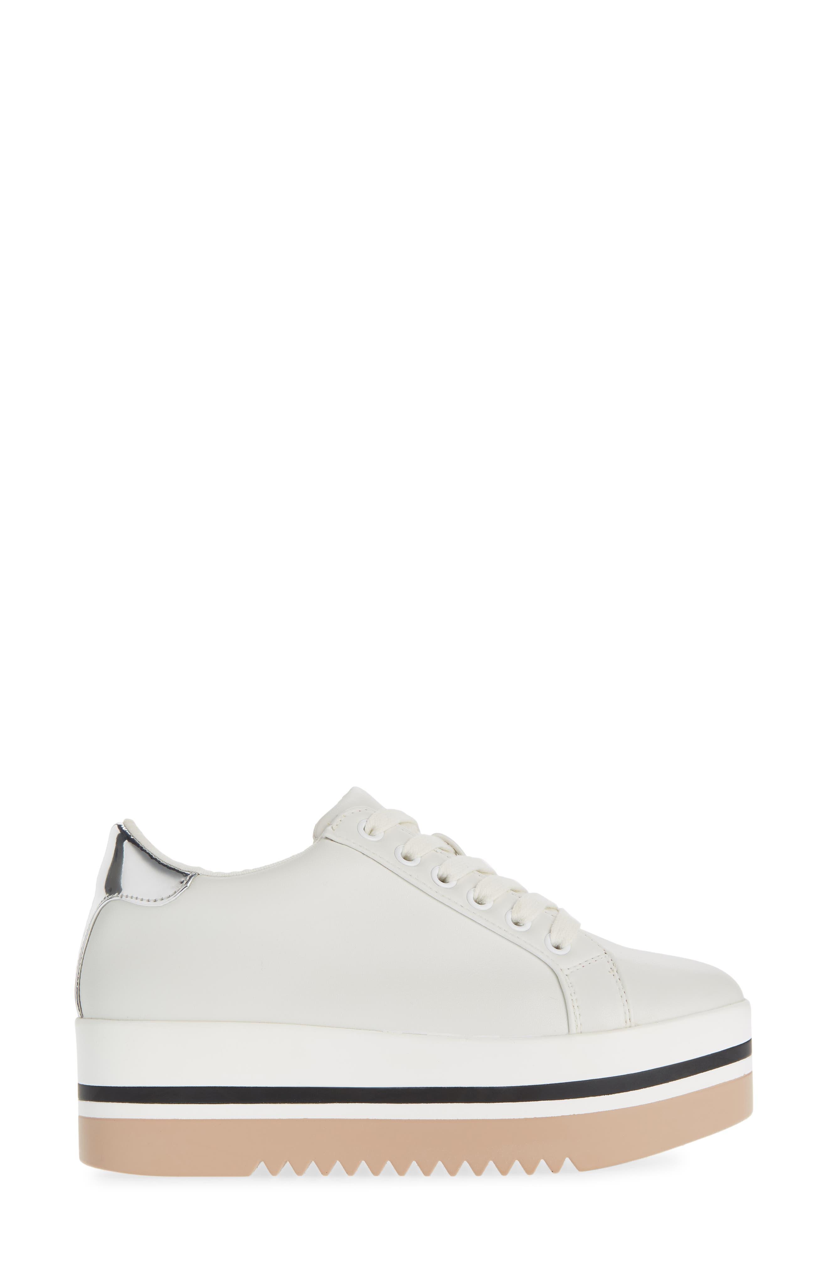 Alley Platform Sneaker,                             Alternate thumbnail 3, color,                             WHITE