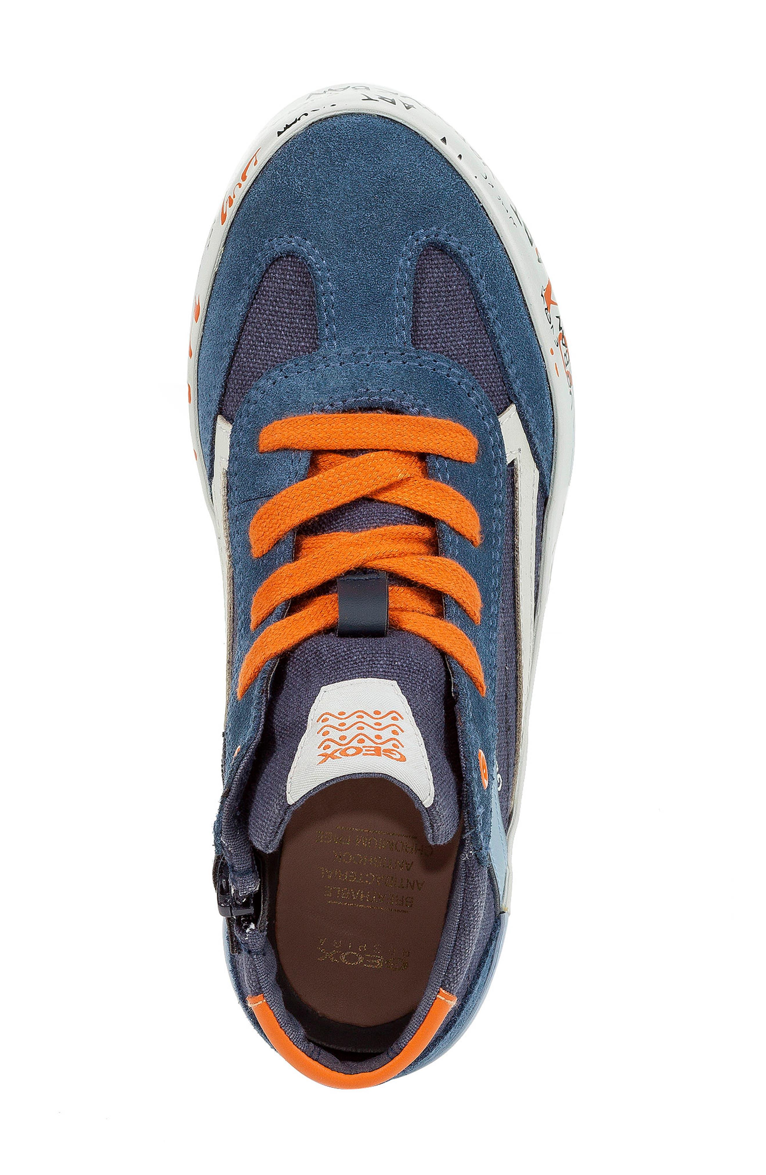 Alonisso 34 High Top Sneaker,                             Alternate thumbnail 5, color,                             NAVY/ DARK ORANGE