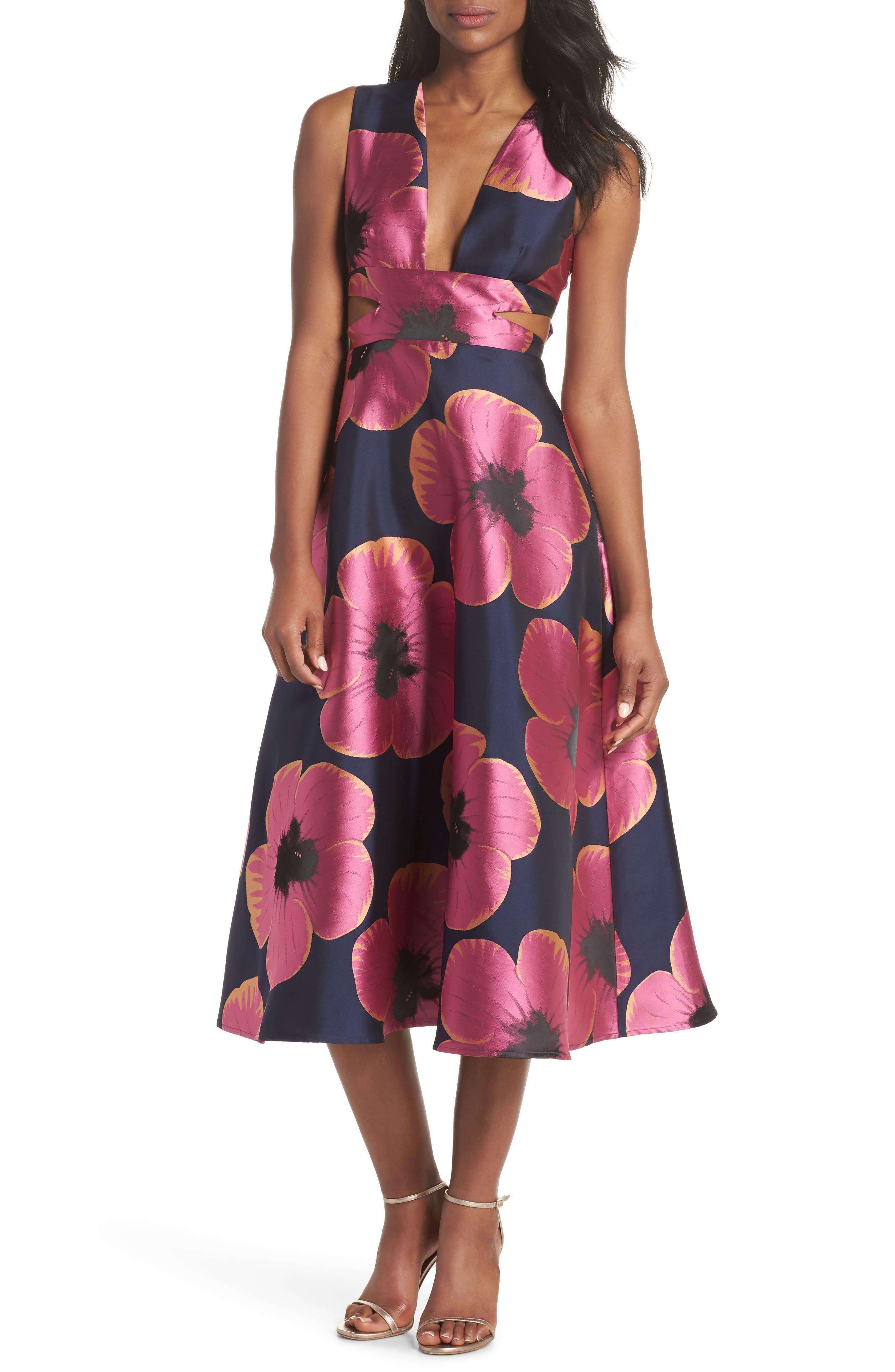 Serena Jacquard Midi Dress,                         Main,                         color, 464