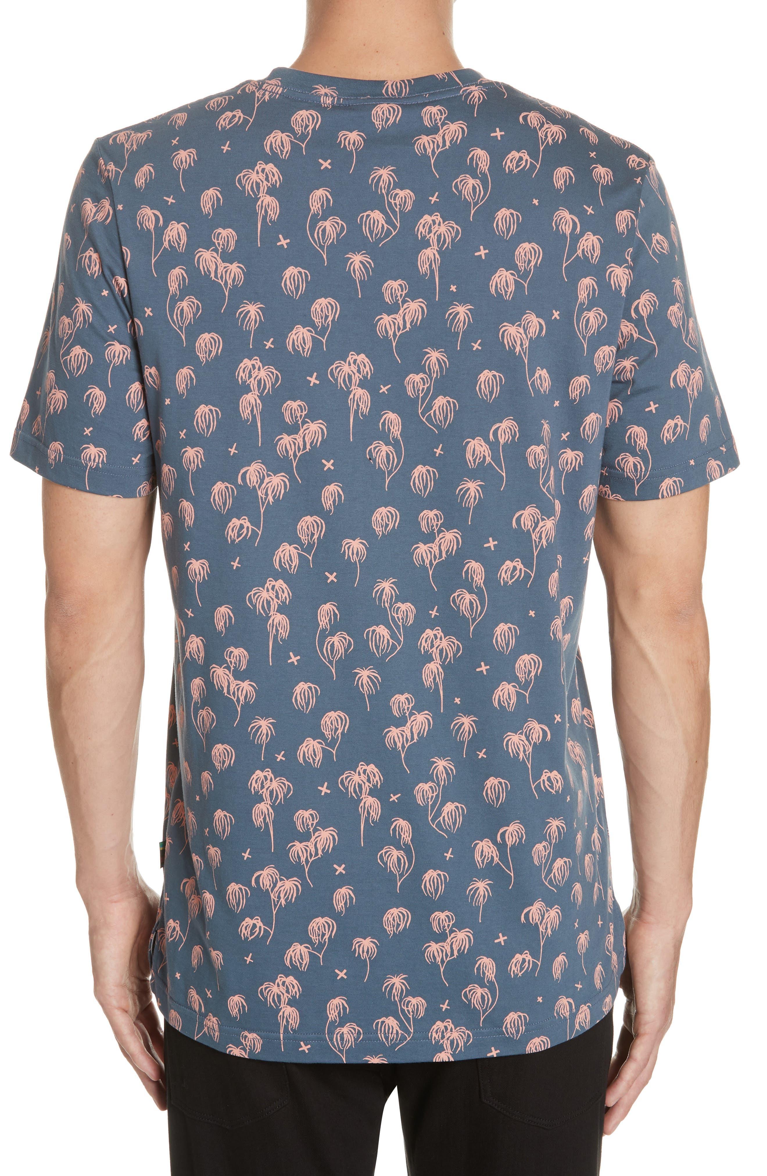 Palm Print T-Shirt,                             Alternate thumbnail 2, color,                             BLUE