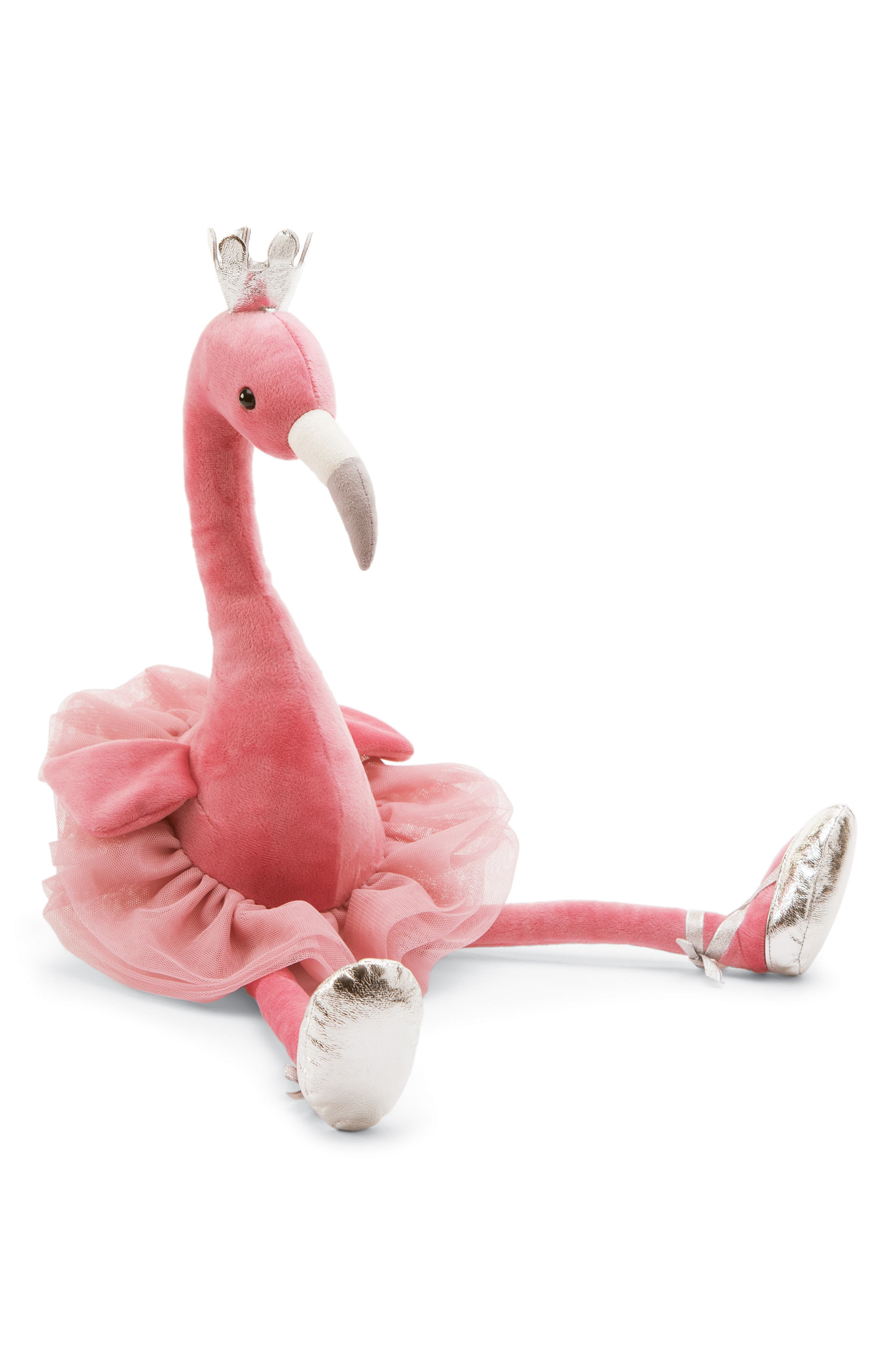 Large Fancy Flamingo Stuffed Animal,                         Main,                         color, PINK