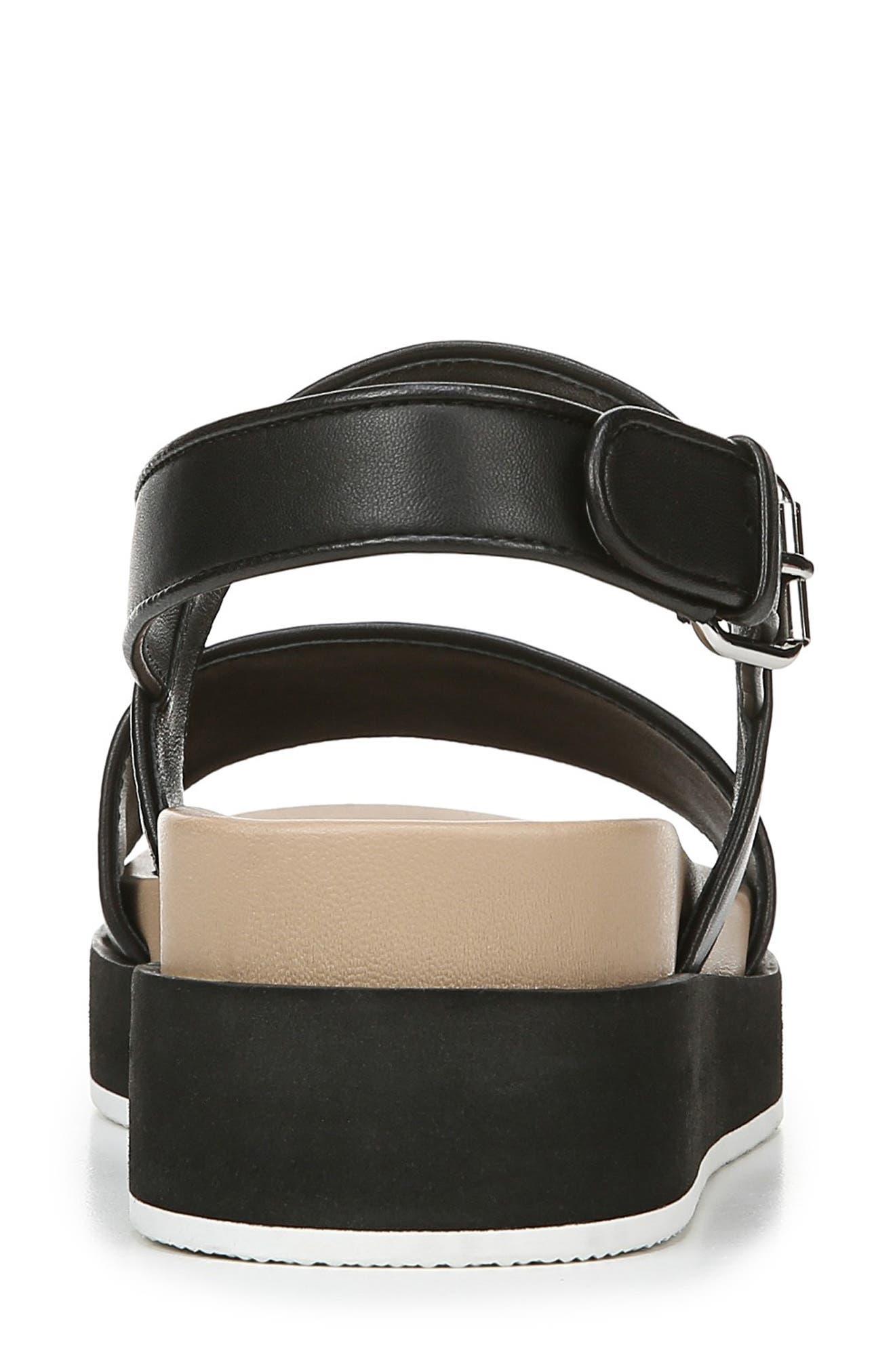 VIA SPIGA,                             Davi Platform Sandal,                             Alternate thumbnail 7, color,                             BLACK