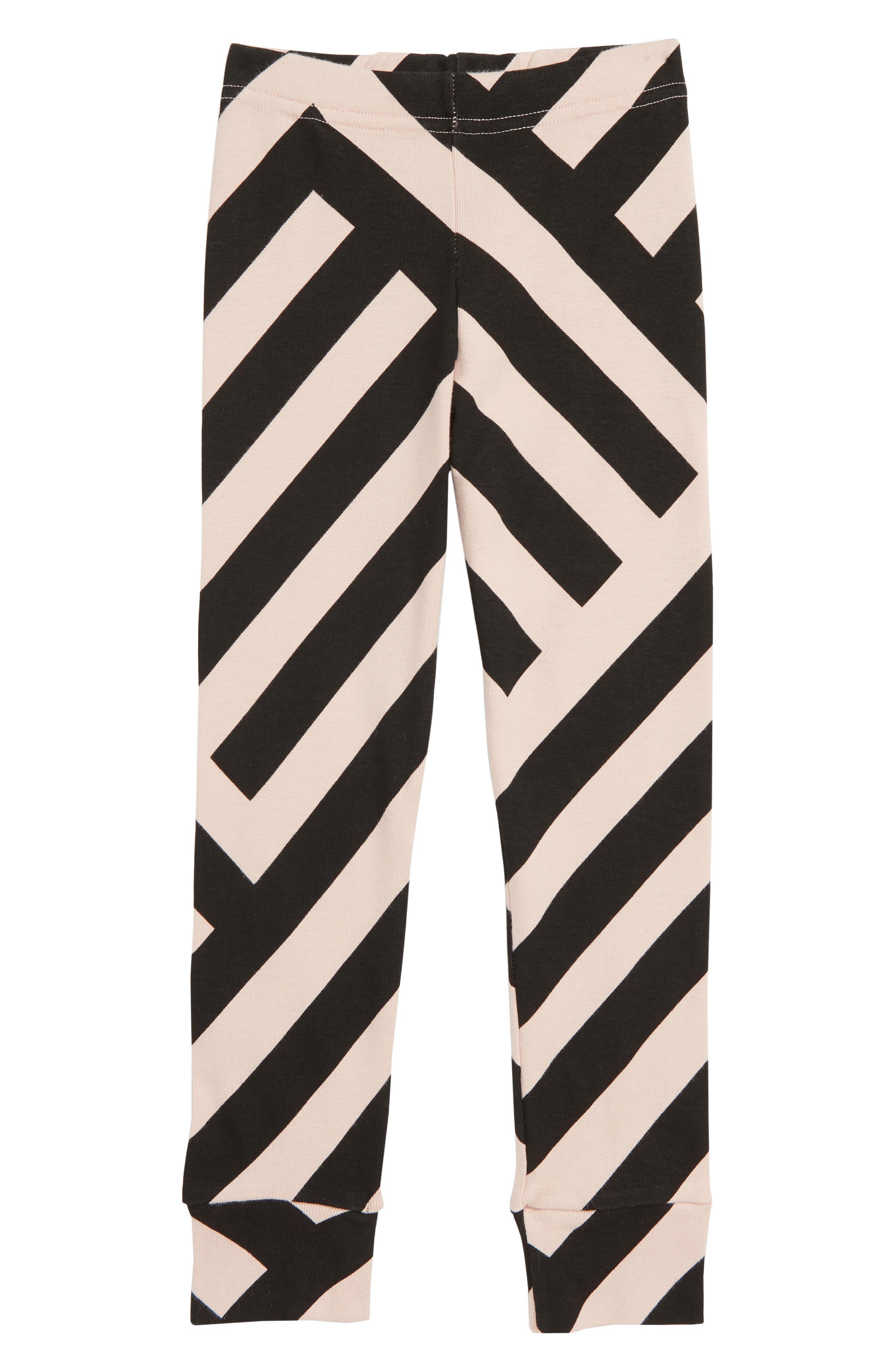 Striped Leggings,                         Main,                         color, POWDER PINK