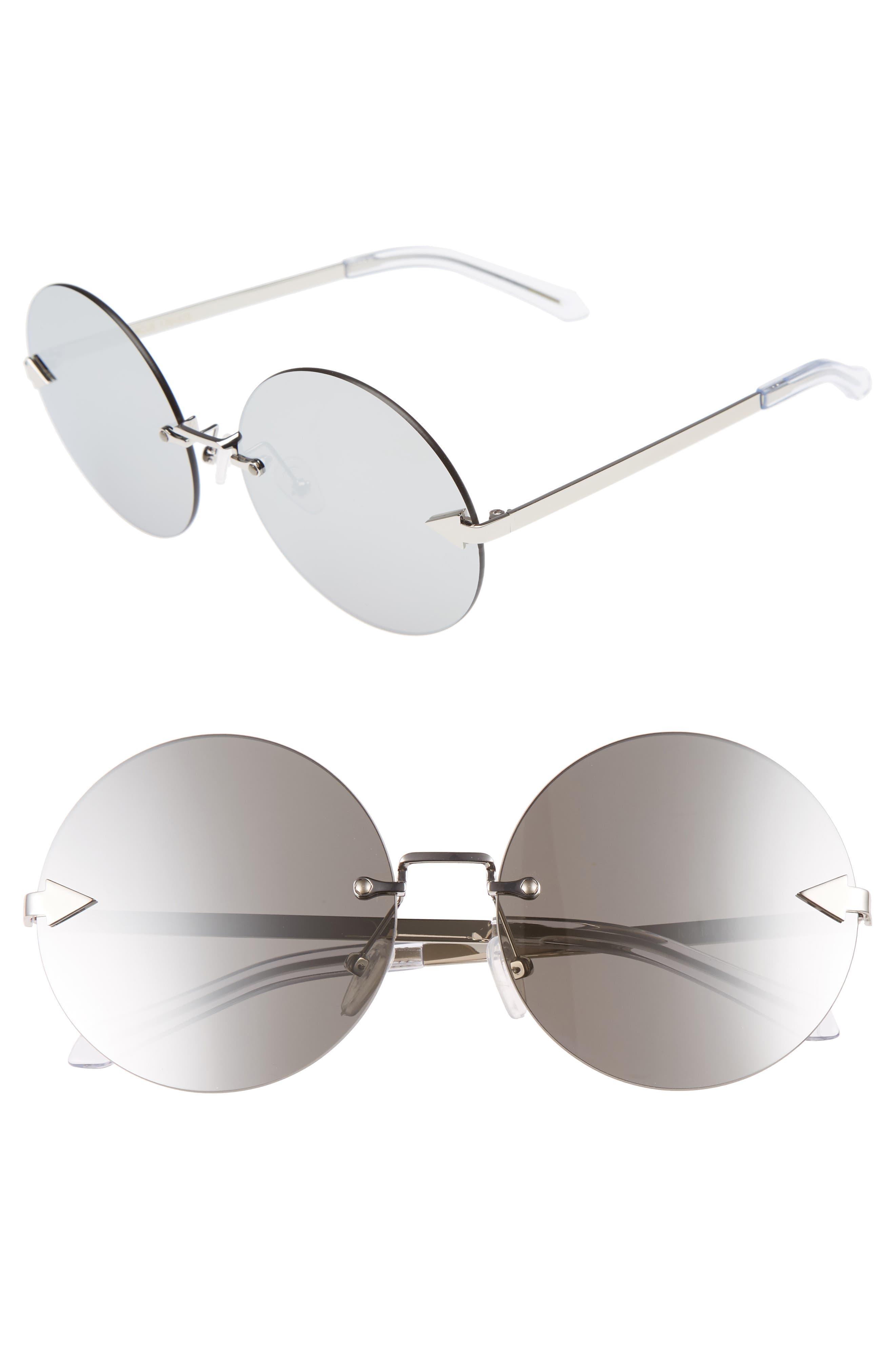 Disco Circus 60mm Rimless Round Sunglasses,                         Main,                         color,
