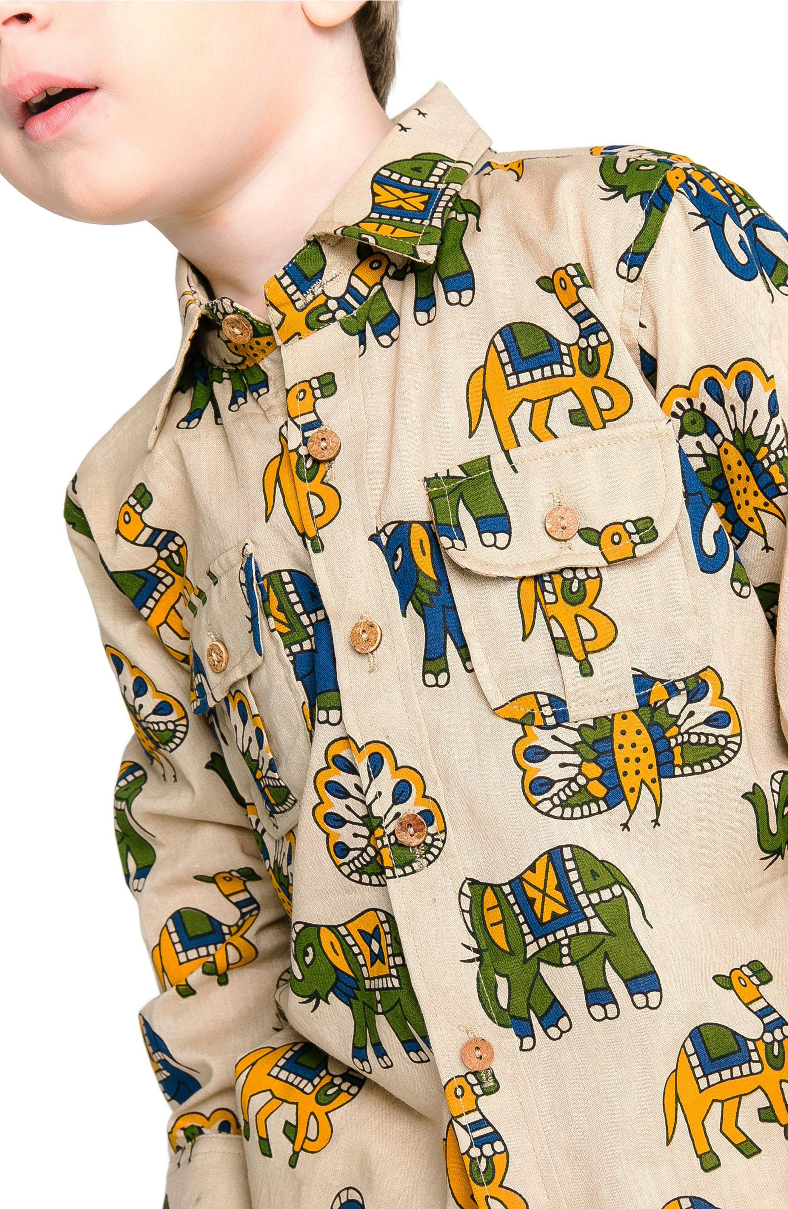 Mason Shirt,                             Alternate thumbnail 3, color,                             SAND