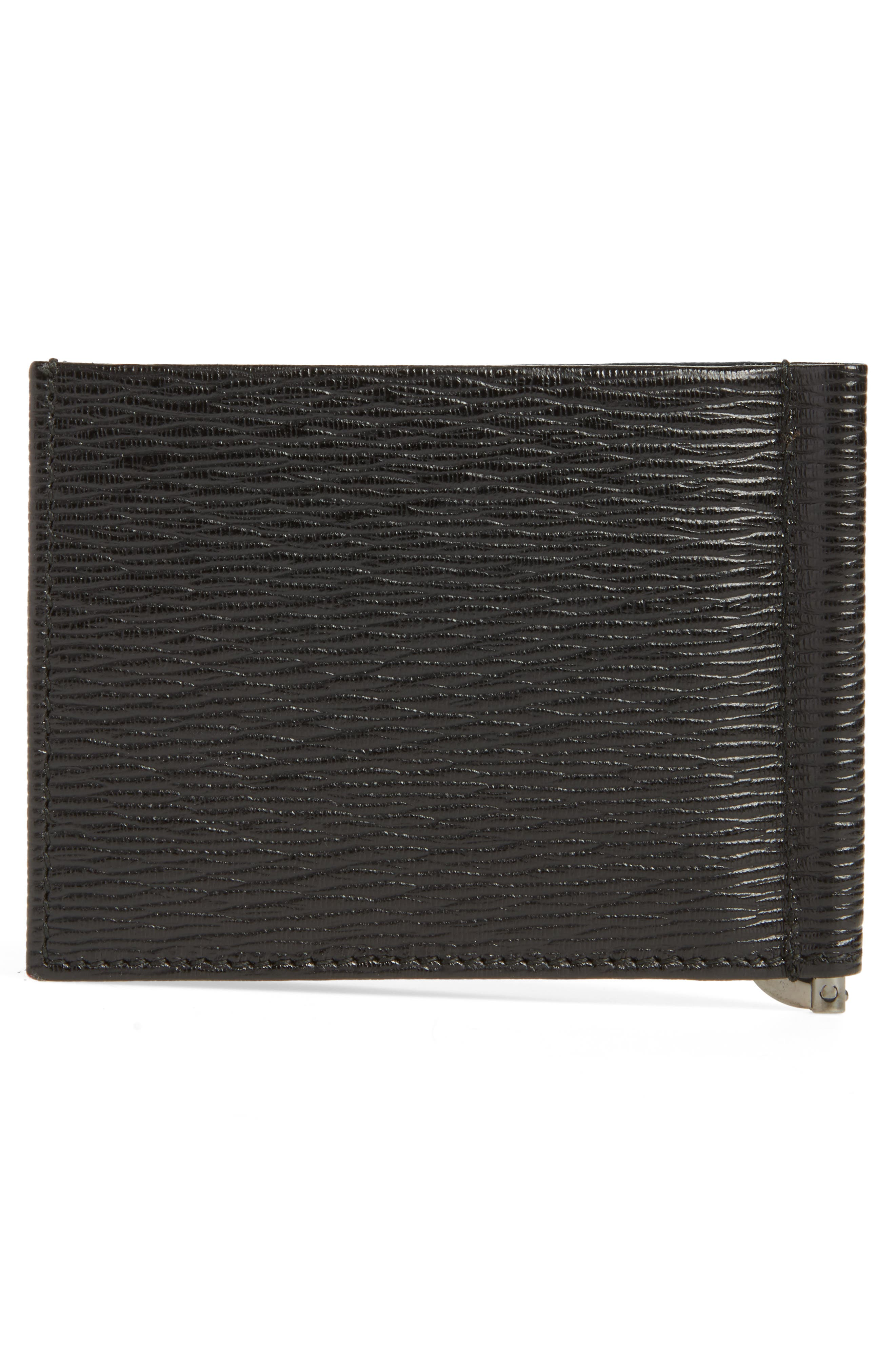 Revival Bifold Leather Wallet,                             Alternate thumbnail 3, color,                             NERO