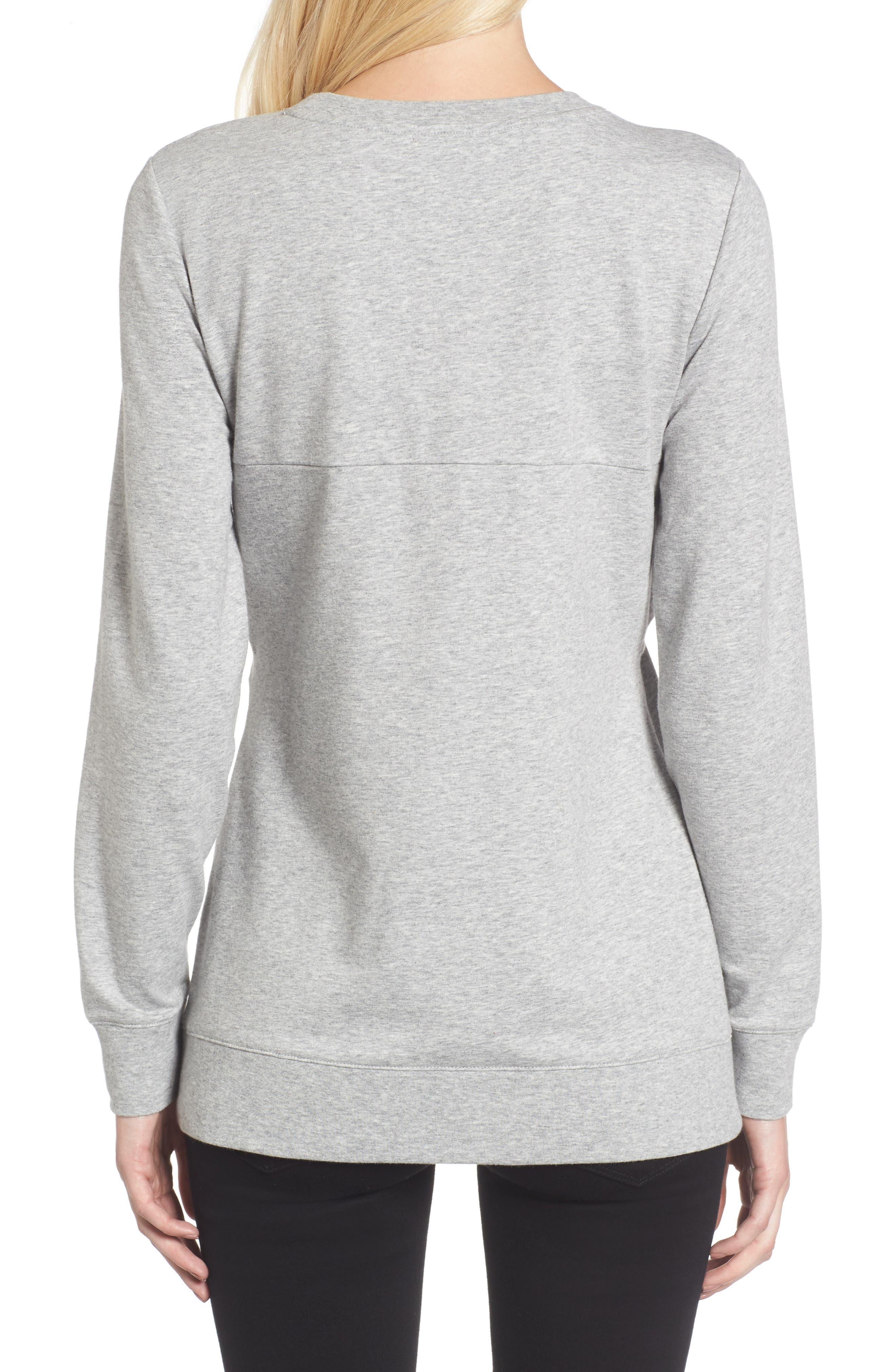 Twist Front Sweatshirt,                             Alternate thumbnail 4, color,