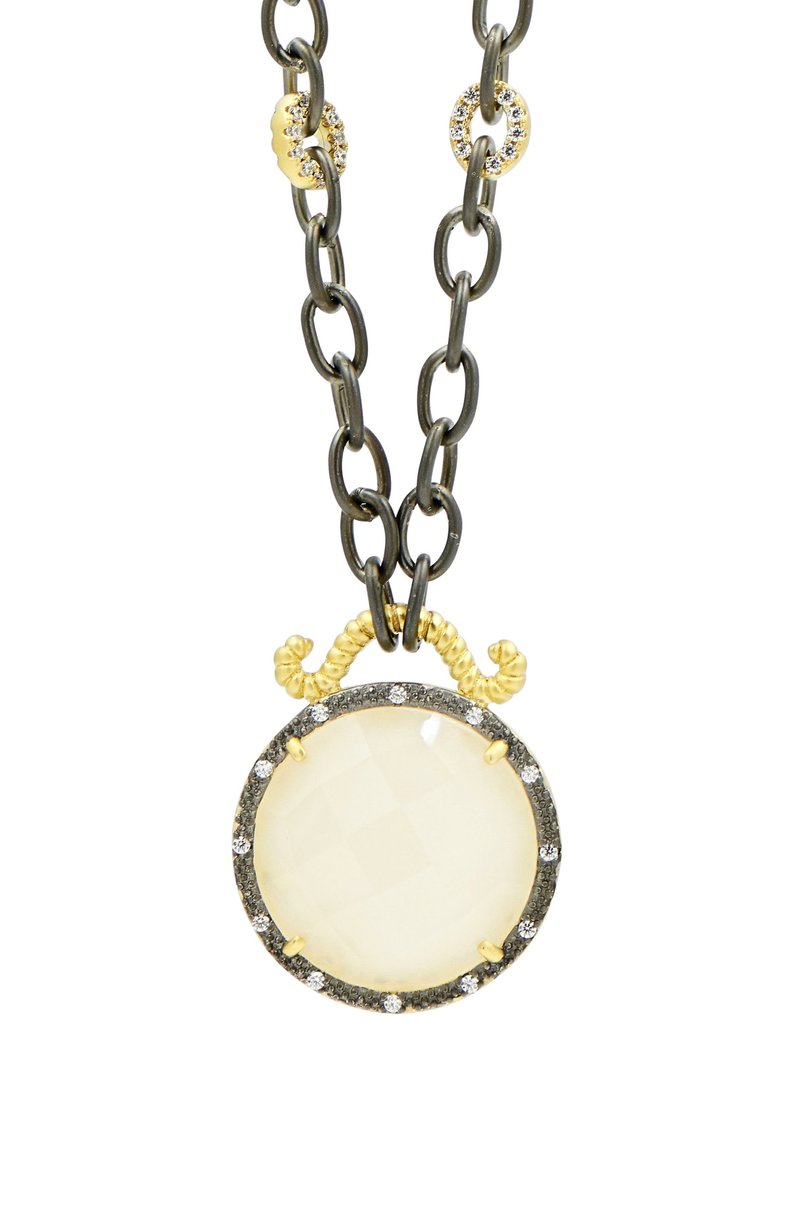 Gilded Cable Reversible Pendant Necklace,                             Alternate thumbnail 5, color,