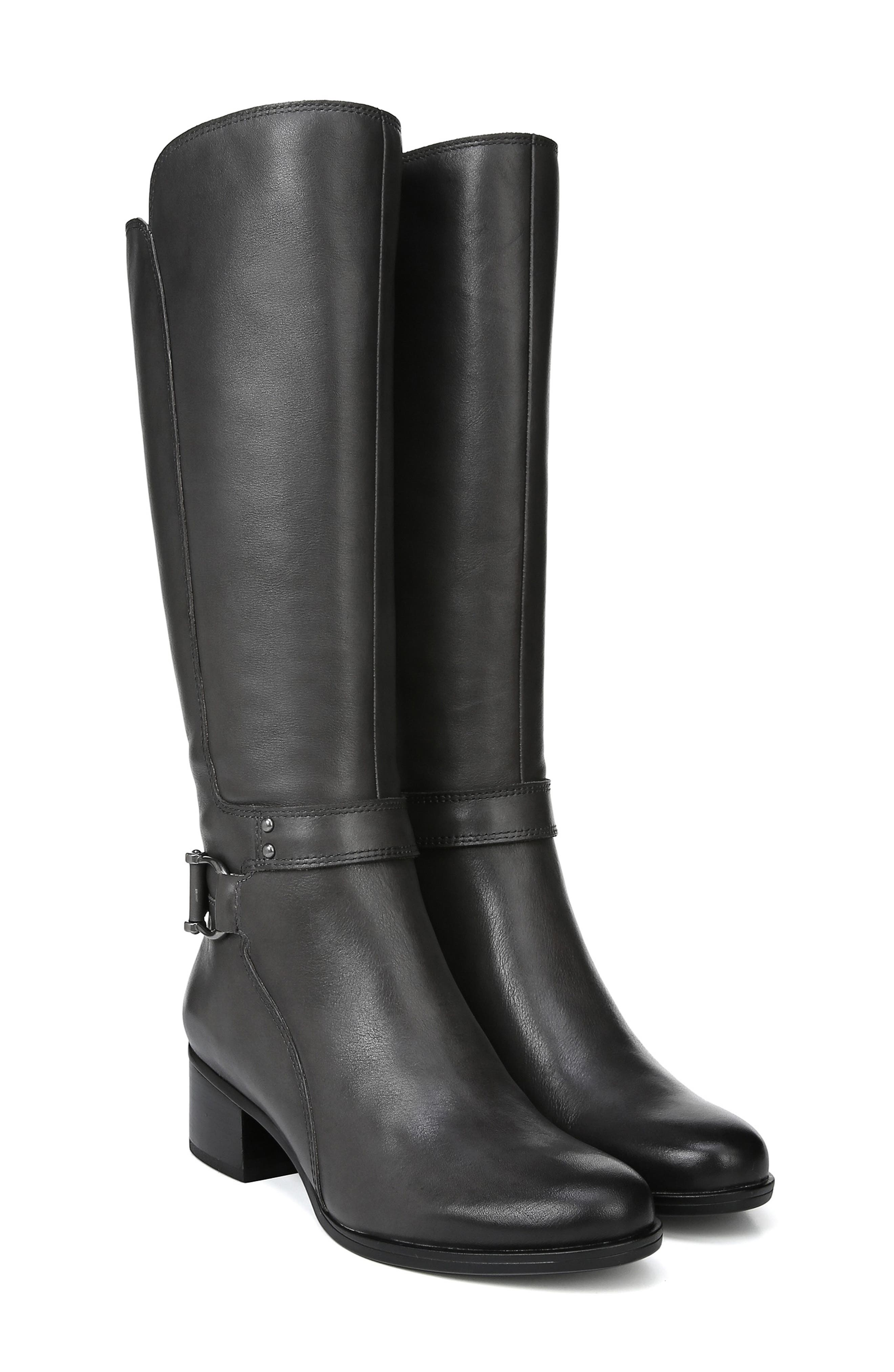 Dane Knee High Riding Boot,                             Alternate thumbnail 9, color,                             GREY LEATHER