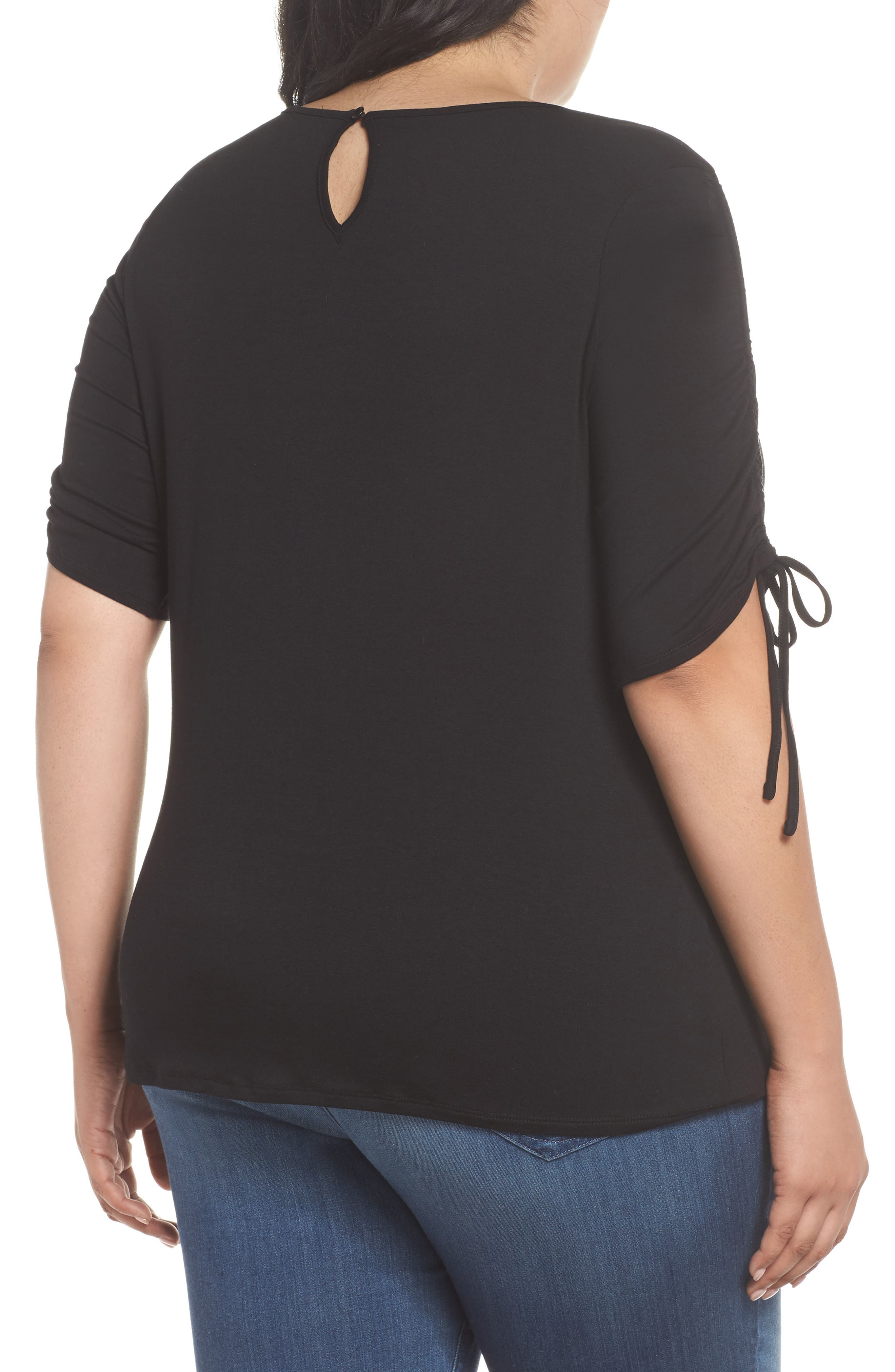 Drawstring Sleeve Top,                             Alternate thumbnail 2, color,                             006