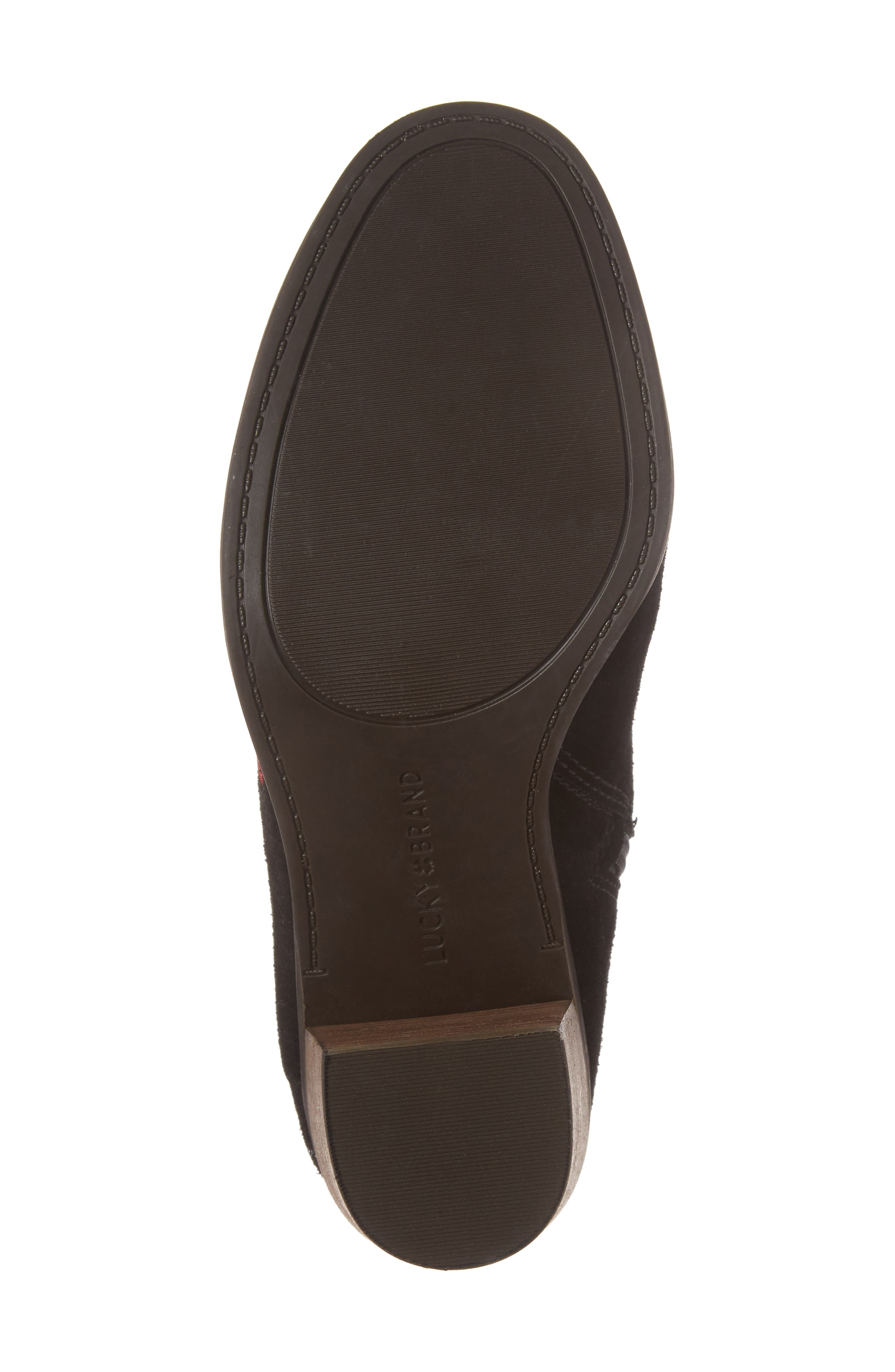 Pexton Embroidered Bootie,                             Alternate thumbnail 6, color,                             002