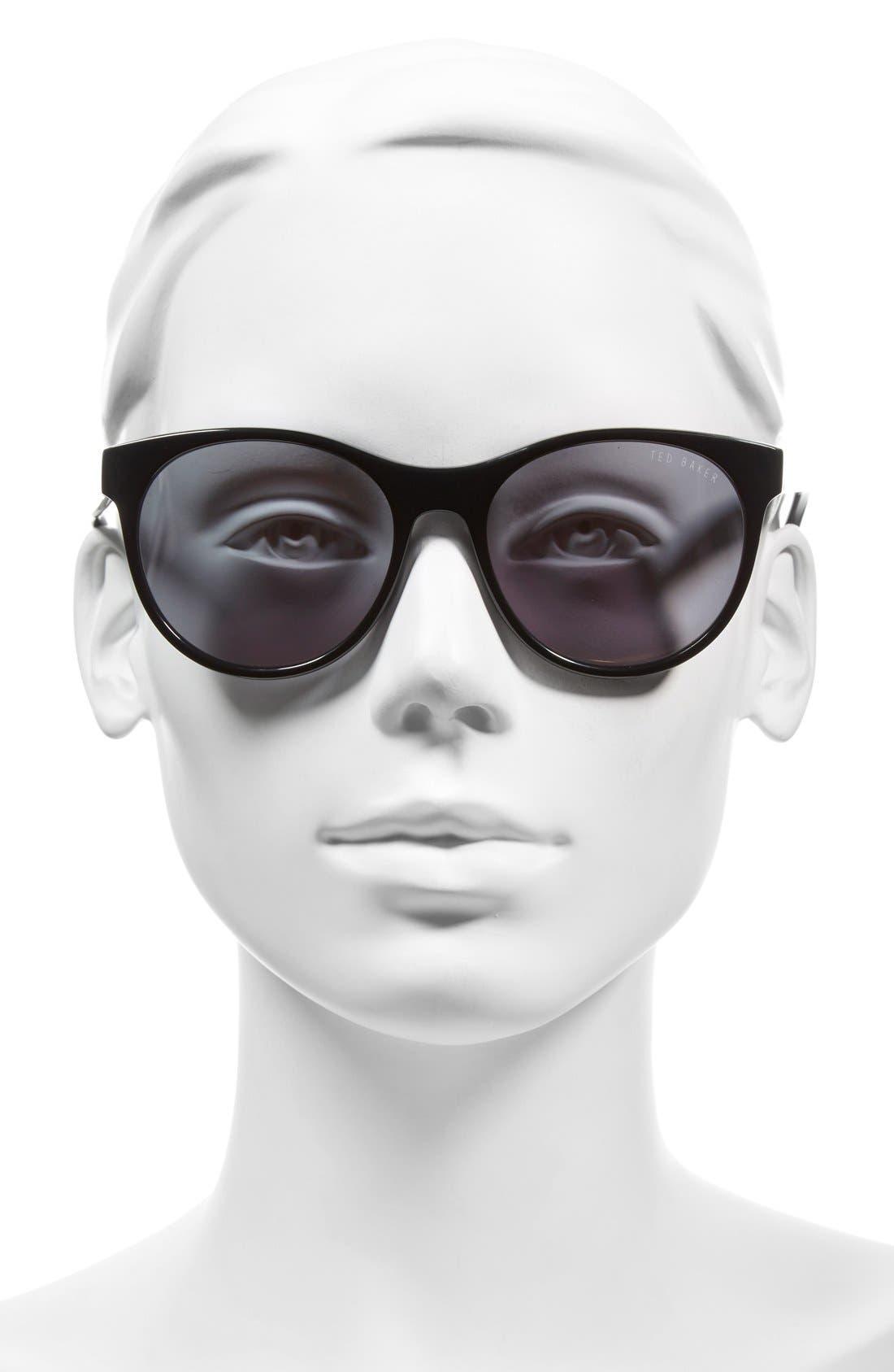 54mm Retro Sunglasses,                             Alternate thumbnail 6, color,