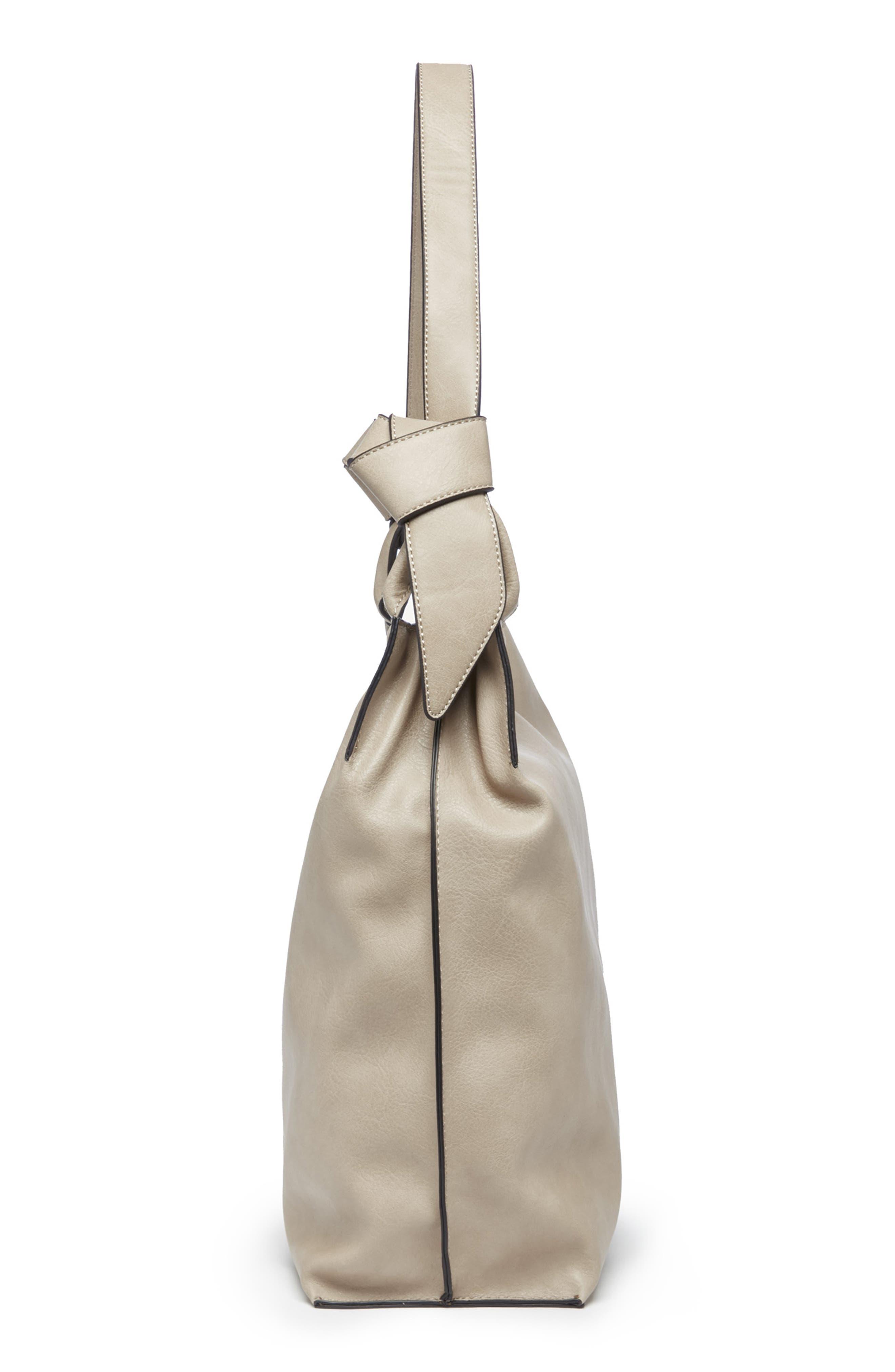 Josah Faux Leather Shoulder Bag,                             Alternate thumbnail 8, color,                             SAFARI