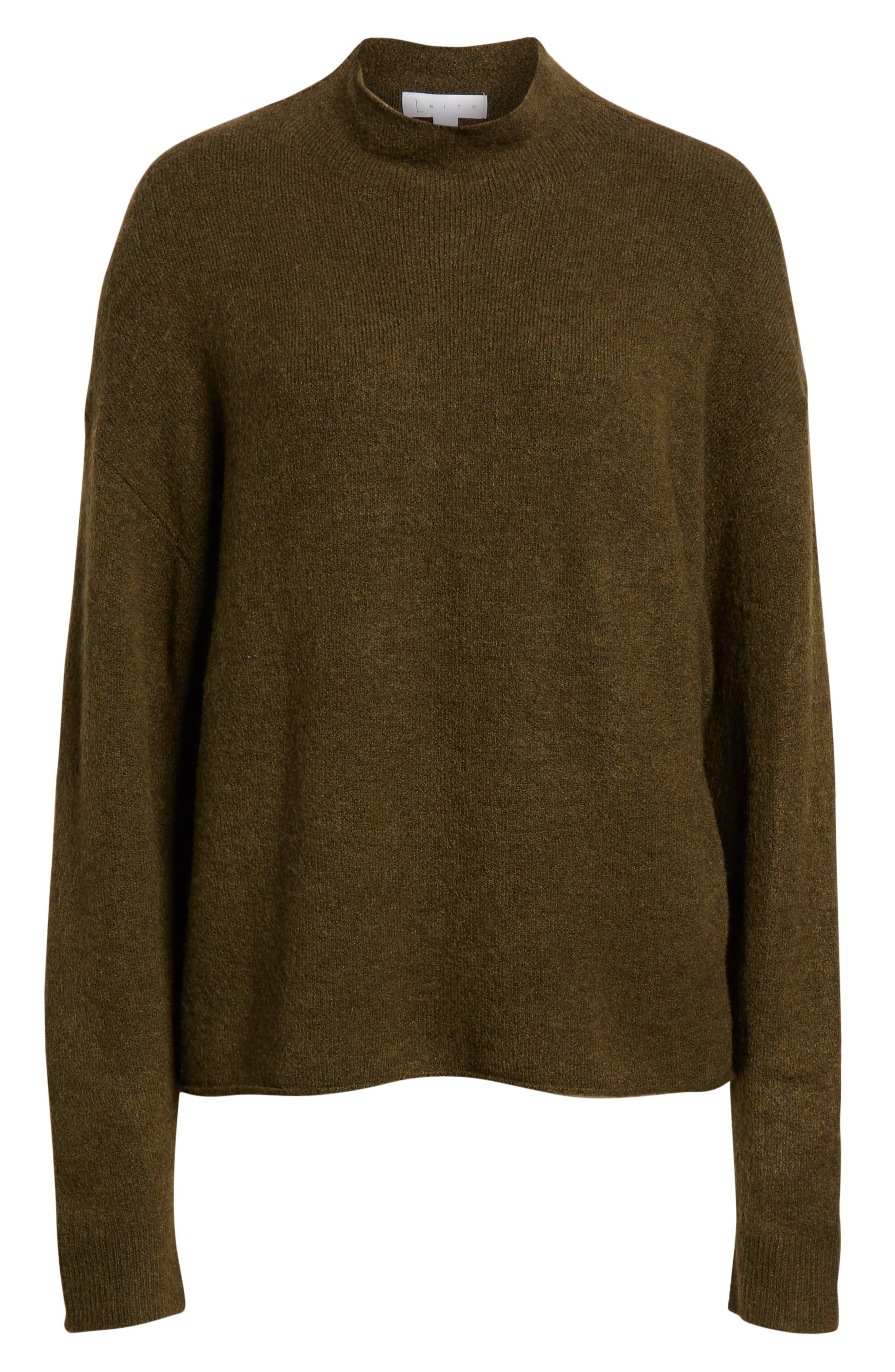 Cozy Mock Neck Sweater,                             Alternate thumbnail 6, color,                             301