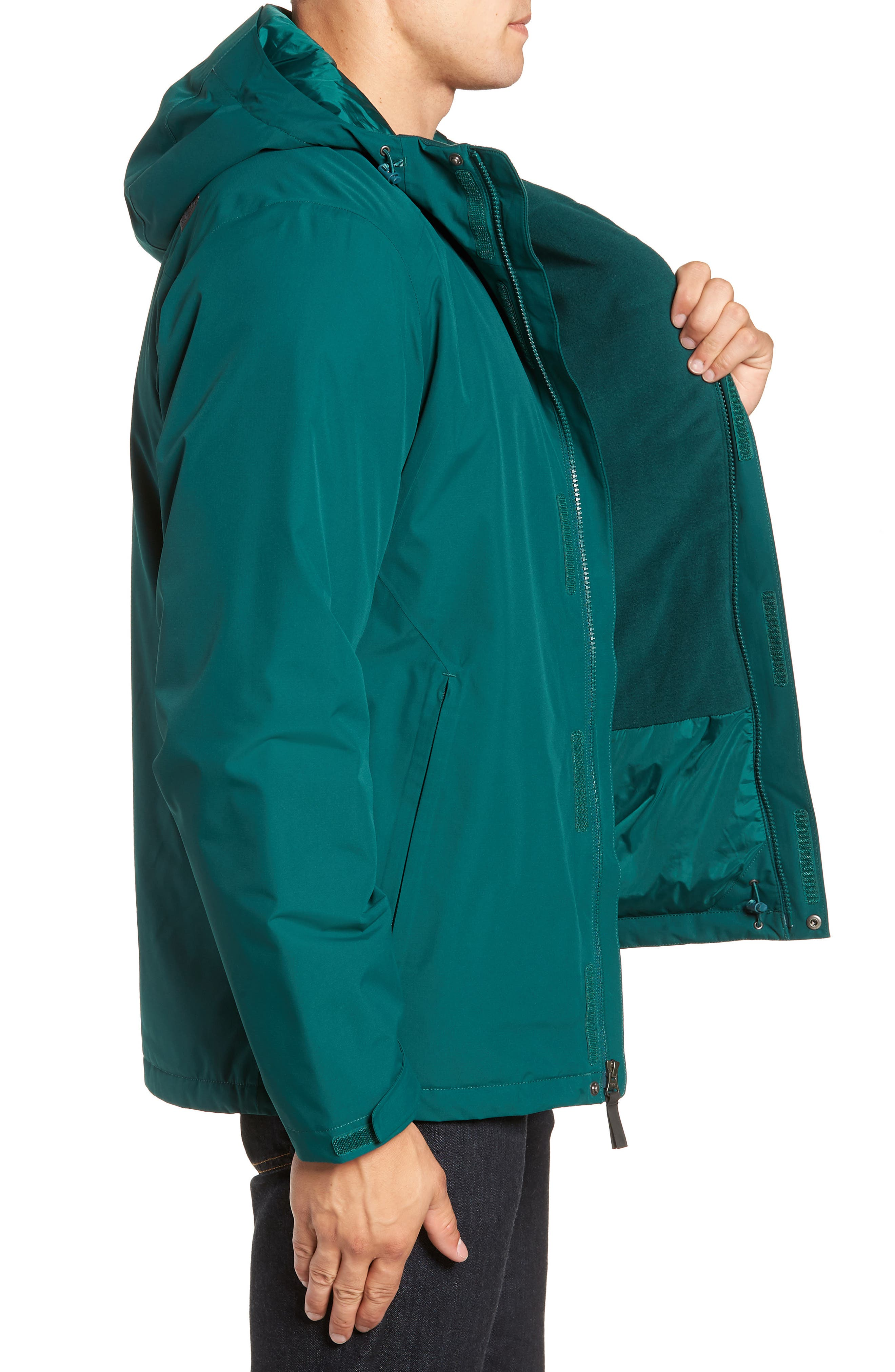'Inlux' Hooded Jacket,                             Alternate thumbnail 3, color,                             BOTANICAL GARDEN GREEN