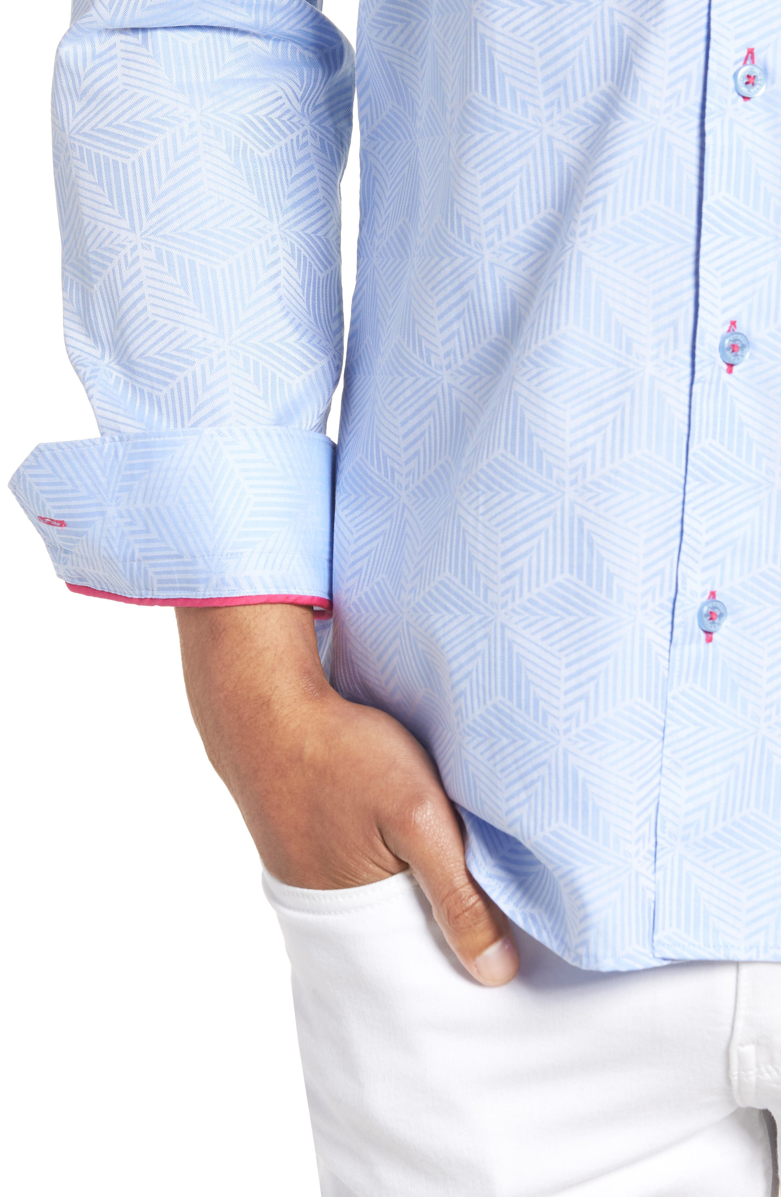 Luxor Cycad Sport Shirt,                             Alternate thumbnail 2, color,                             BLUE