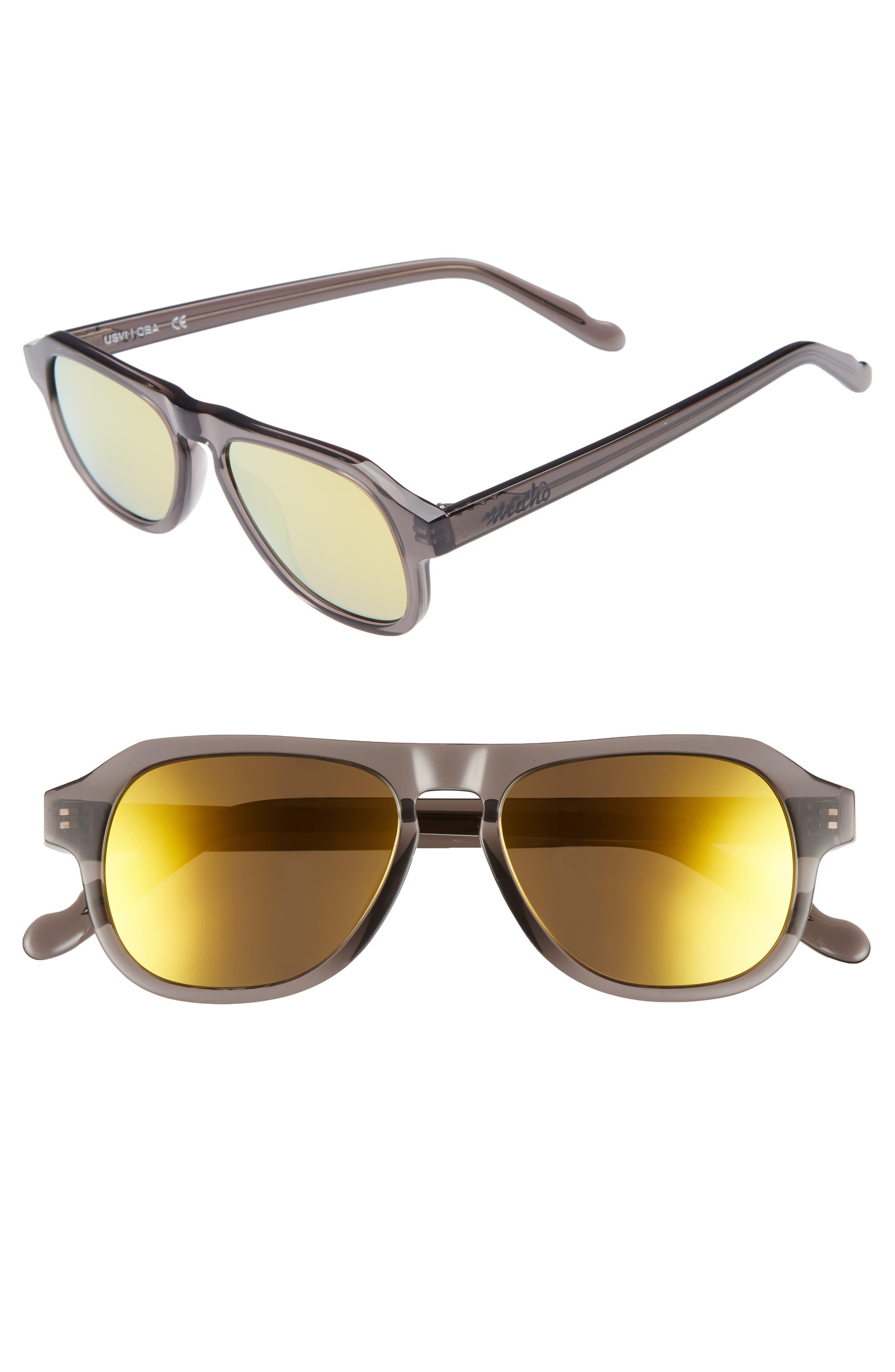 Galapagos 48mm Polarized Flat Top Sunglasses,                             Main thumbnail 1, color,                             020