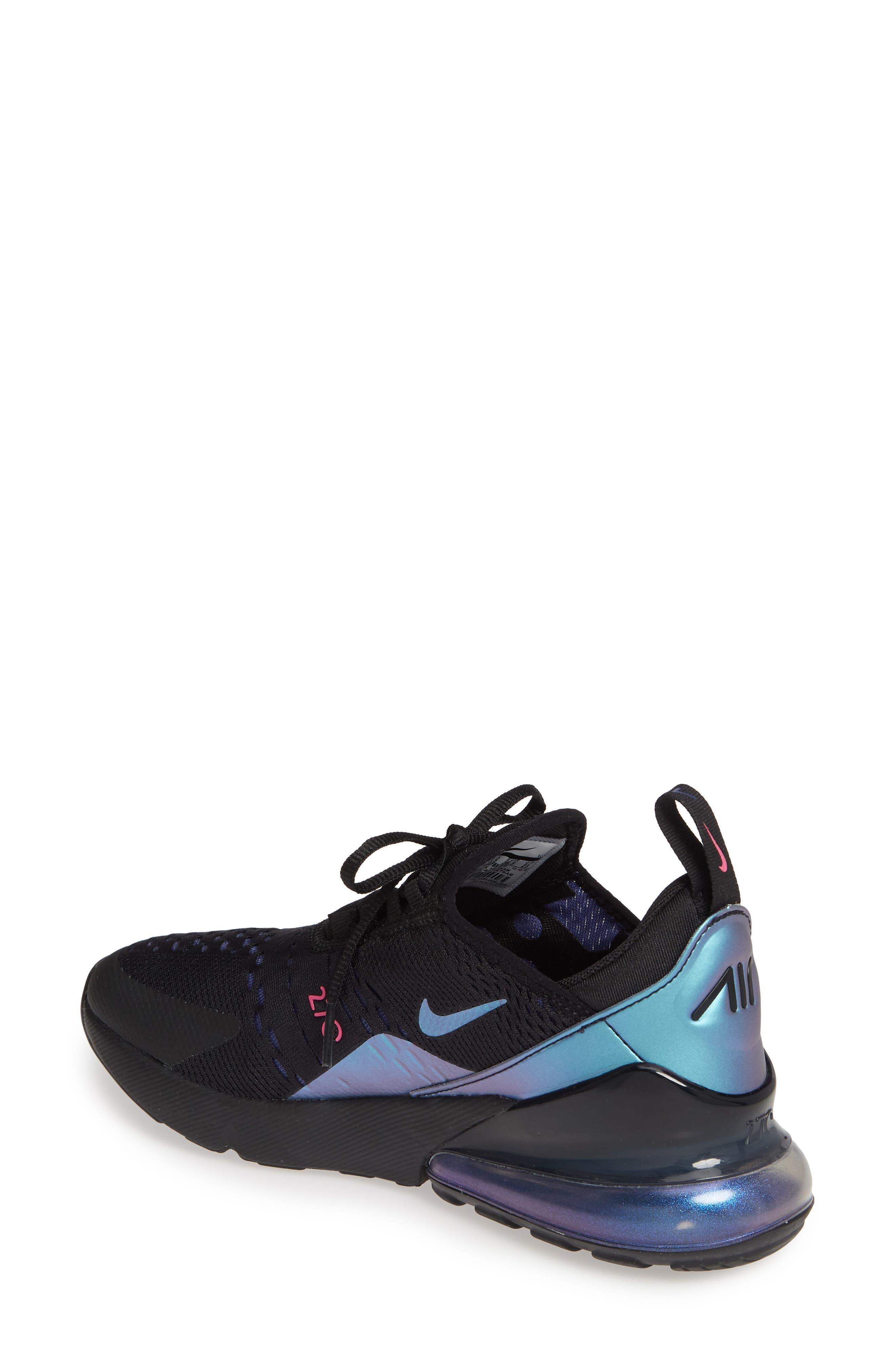 NIKE,                             Air Max 270 Premium Sneaker,                             Alternate thumbnail 2, color,                             BLACK/ FUCHSIA/ PURPLE