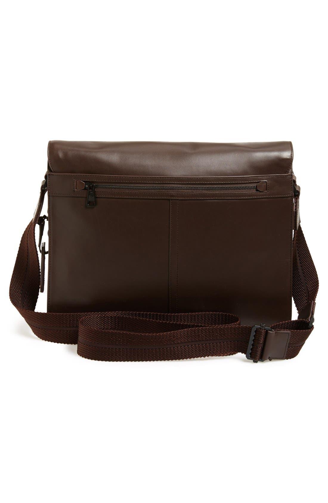 'Tolve' Leather Messenger Bag,                             Alternate thumbnail 3, color,                             210