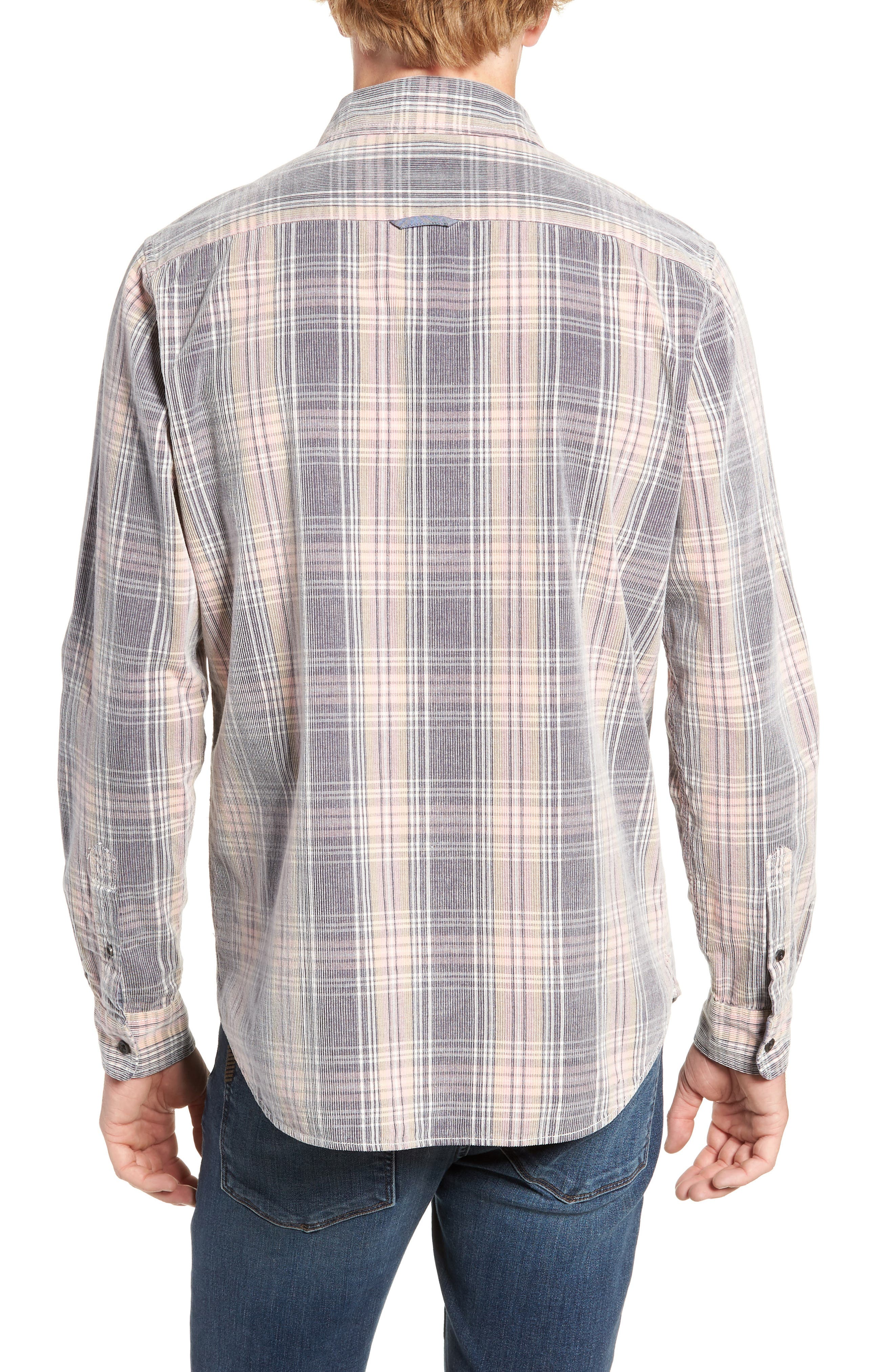 Regular Fit Plaid Corduroy Shirt,                             Alternate thumbnail 3, color,                             602