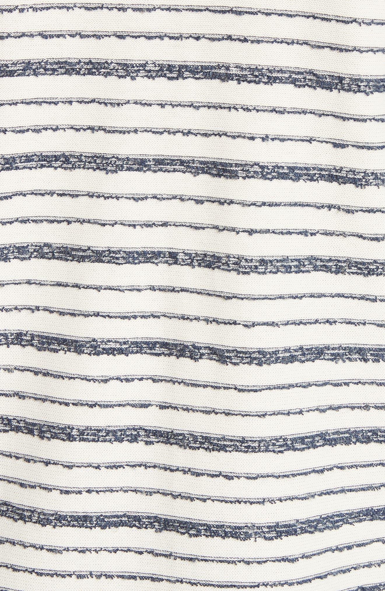 Niels Textured Stripe T-Shirt,                             Alternate thumbnail 5, color,                             DARK NAVY