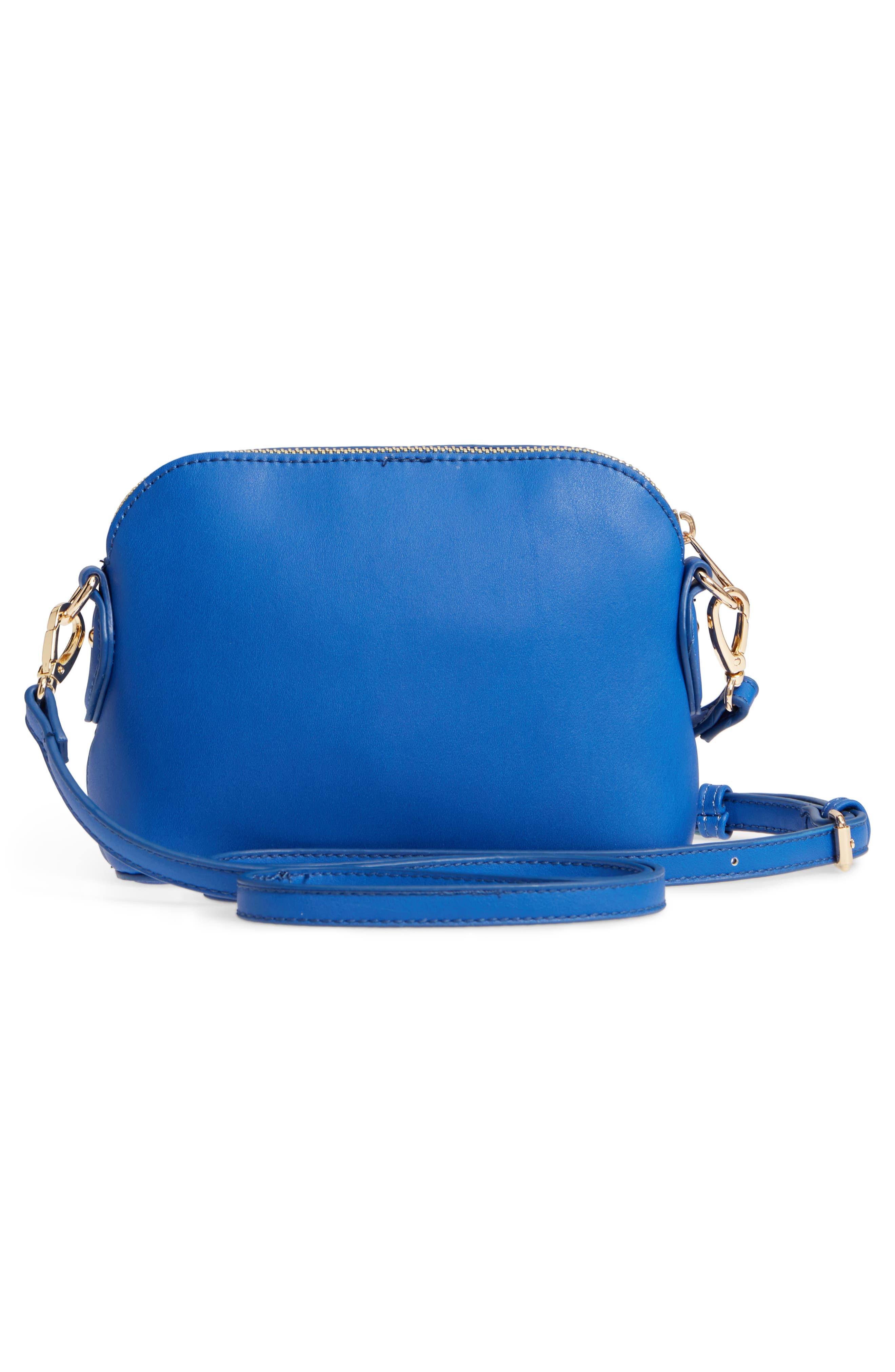 Structured Faux Leather Dome Crossbody,                             Alternate thumbnail 11, color,