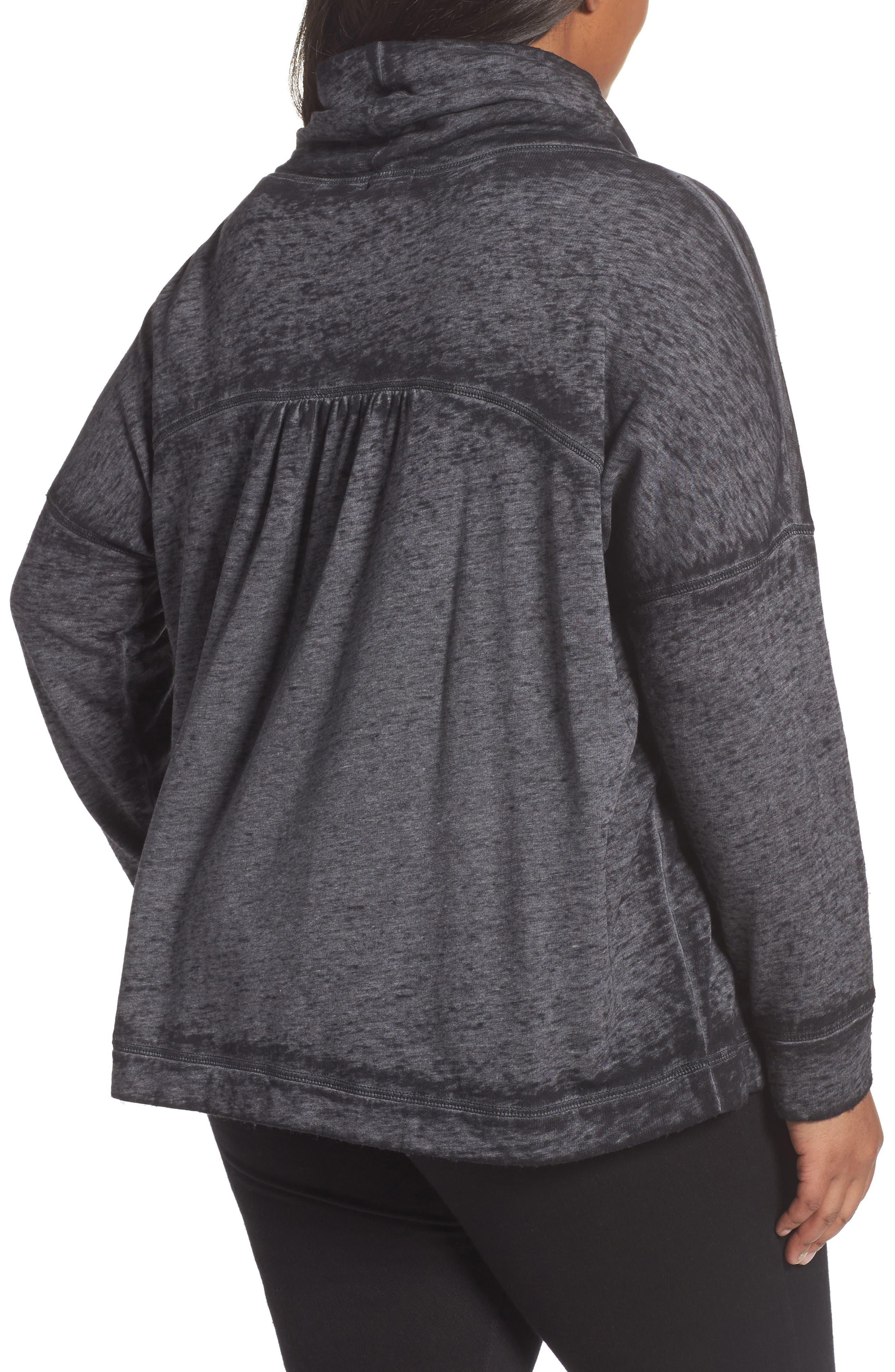 Pleat Back Sweatshirt,                             Alternate thumbnail 2, color,                             001
