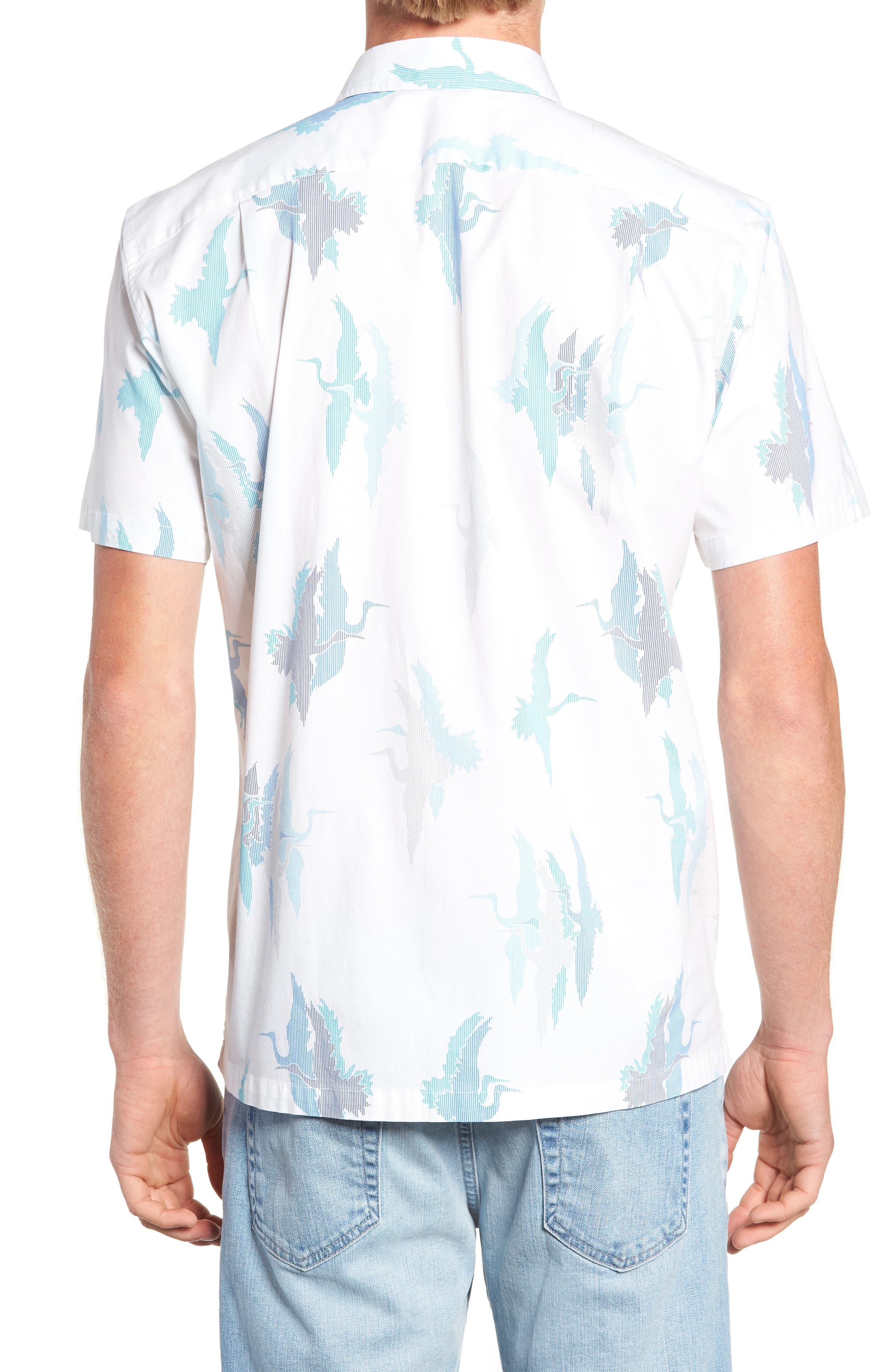 Shadow Crane Regular Fit Sport Shirt,                             Alternate thumbnail 3, color,                             100