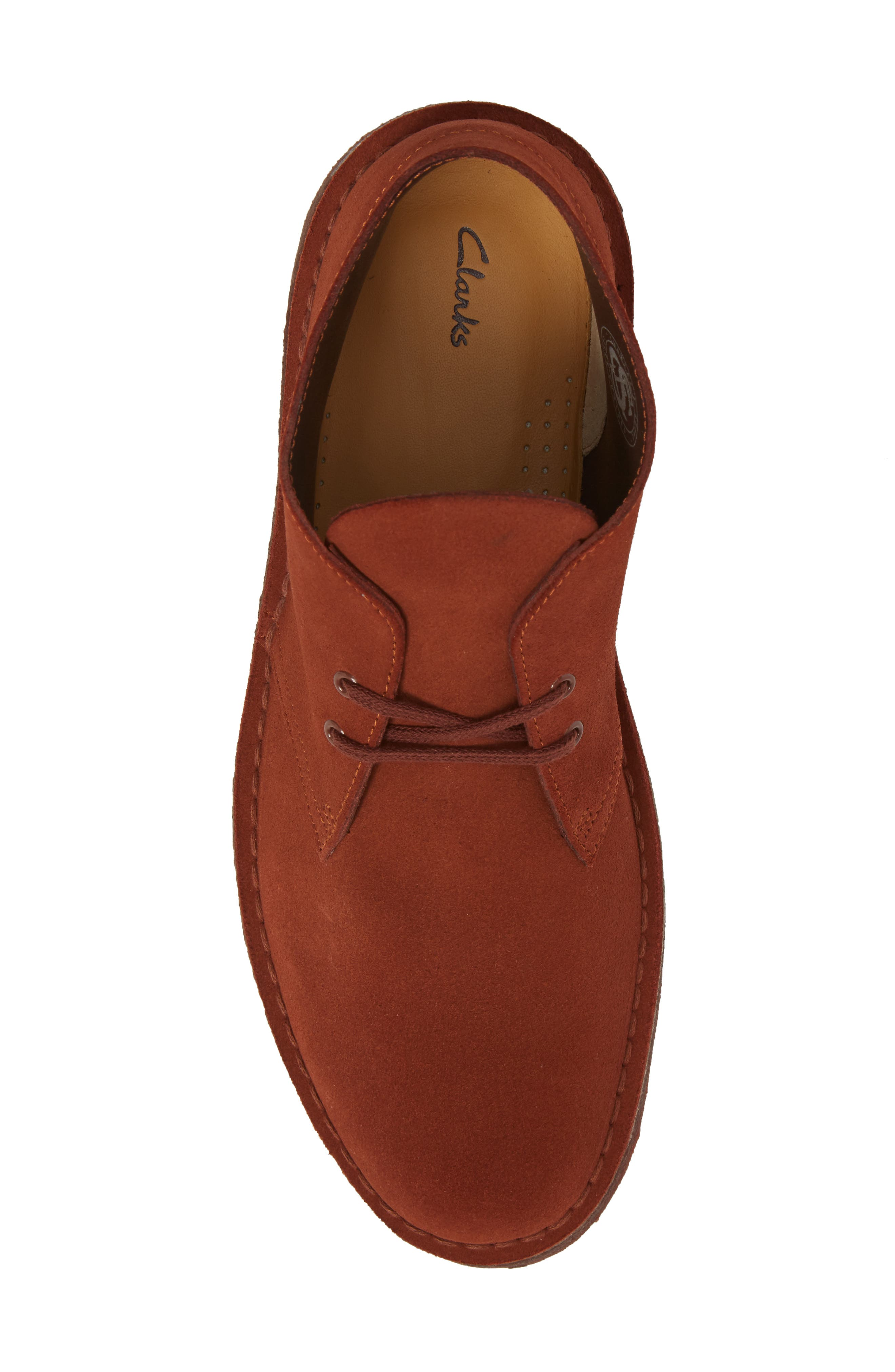 Clarks<sup>®</sup> Desert Boot,                             Alternate thumbnail 5, color,                             MAHOGANY LEATHER