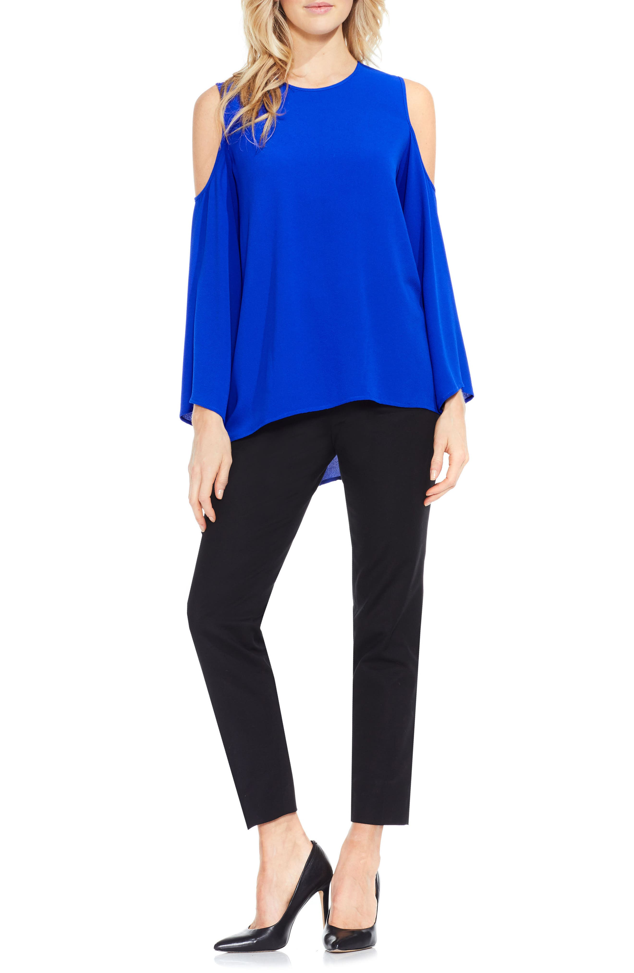 Bell Sleeve Cold Shoulder Blouse,                             Main thumbnail 2, color,