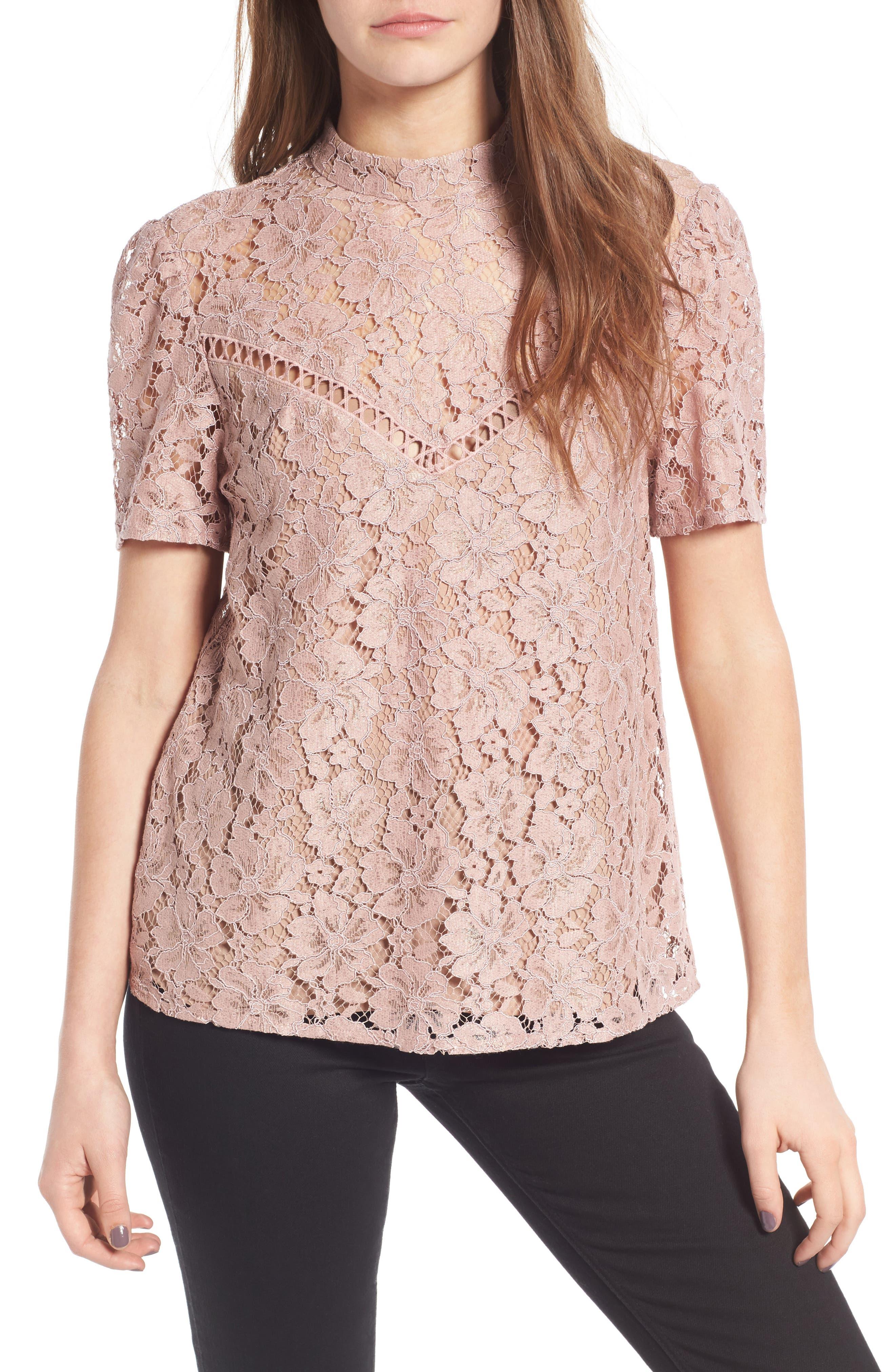 Greyson Lace Top, Main, color, 650