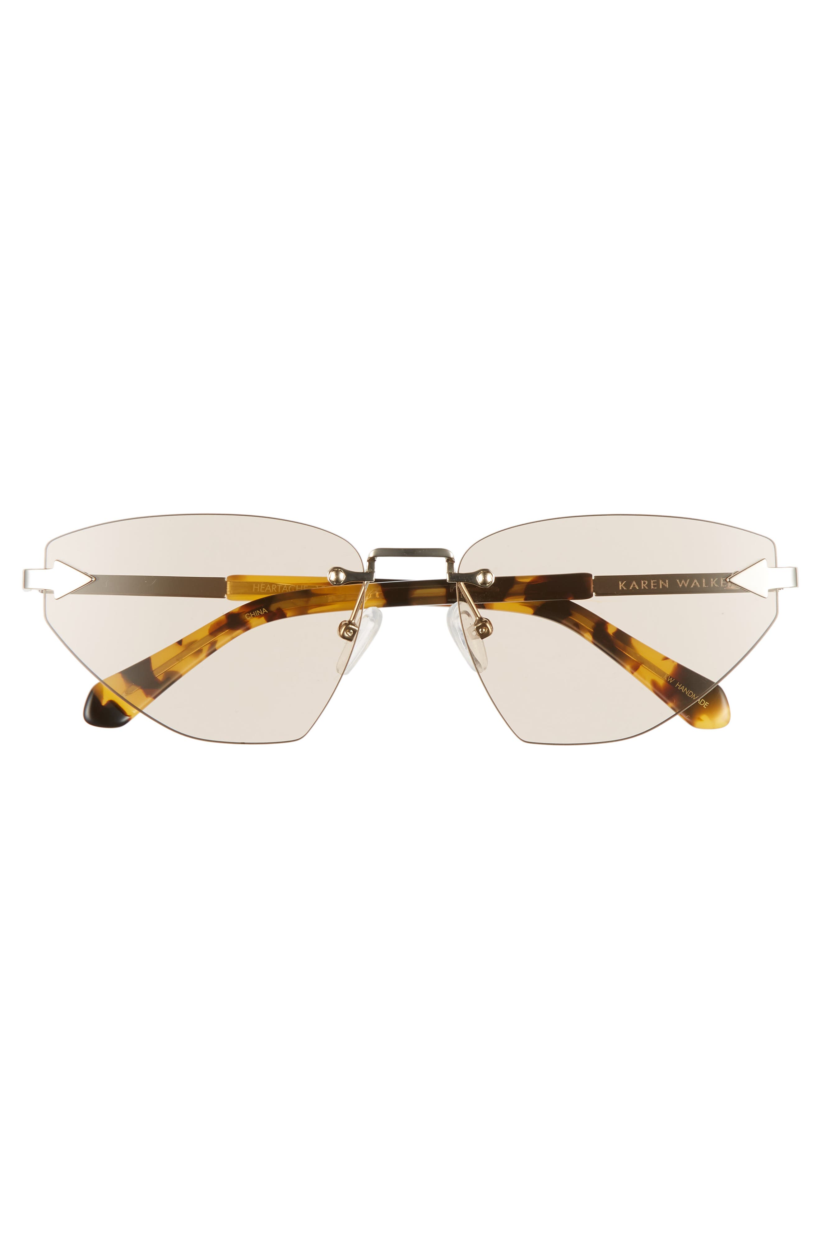 Heartache 60mm Cat Eye Sunglasses,                             Alternate thumbnail 3, color,                             GOLD/ TORTOISE