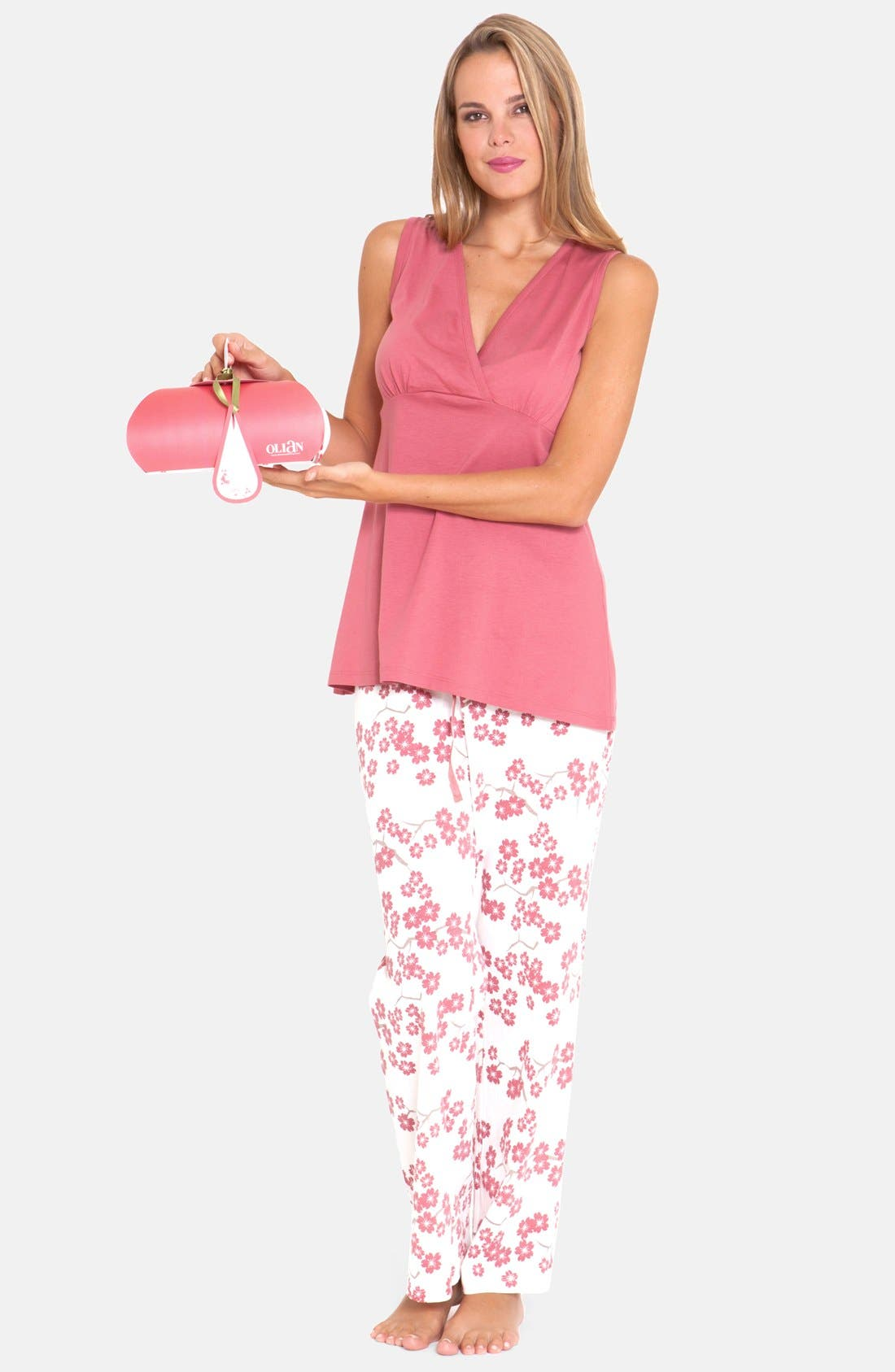 4-Piece Maternity Sleepwear Gift Set,                             Alternate thumbnail 4, color,                             664