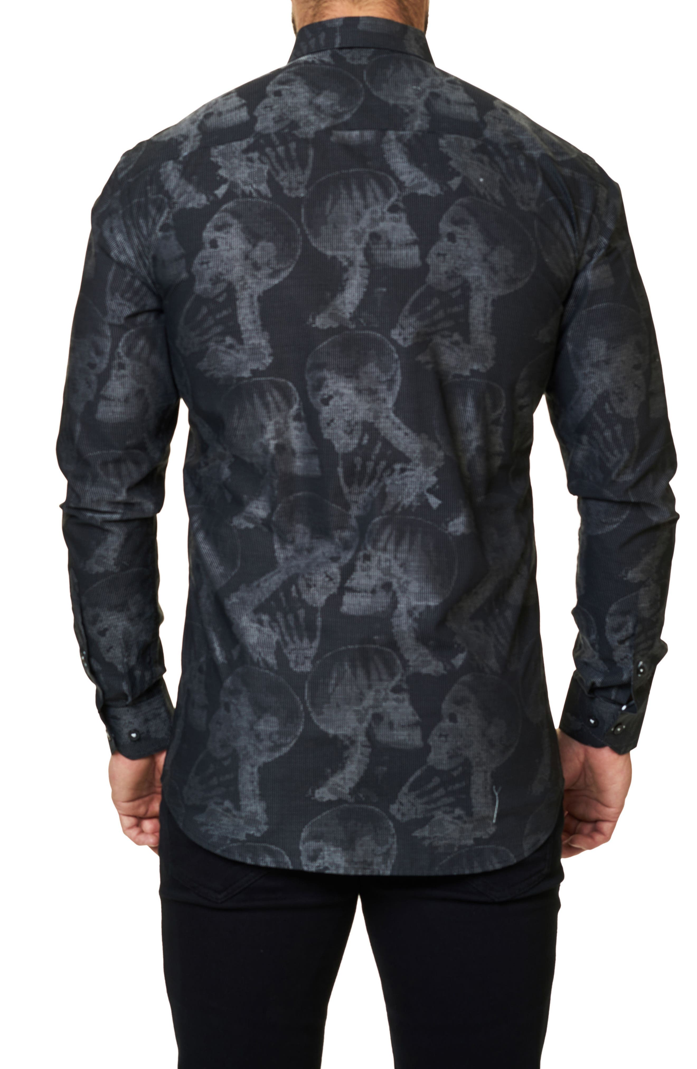 Trim Fit Print Sport Shirt,                             Alternate thumbnail 2, color,                             002