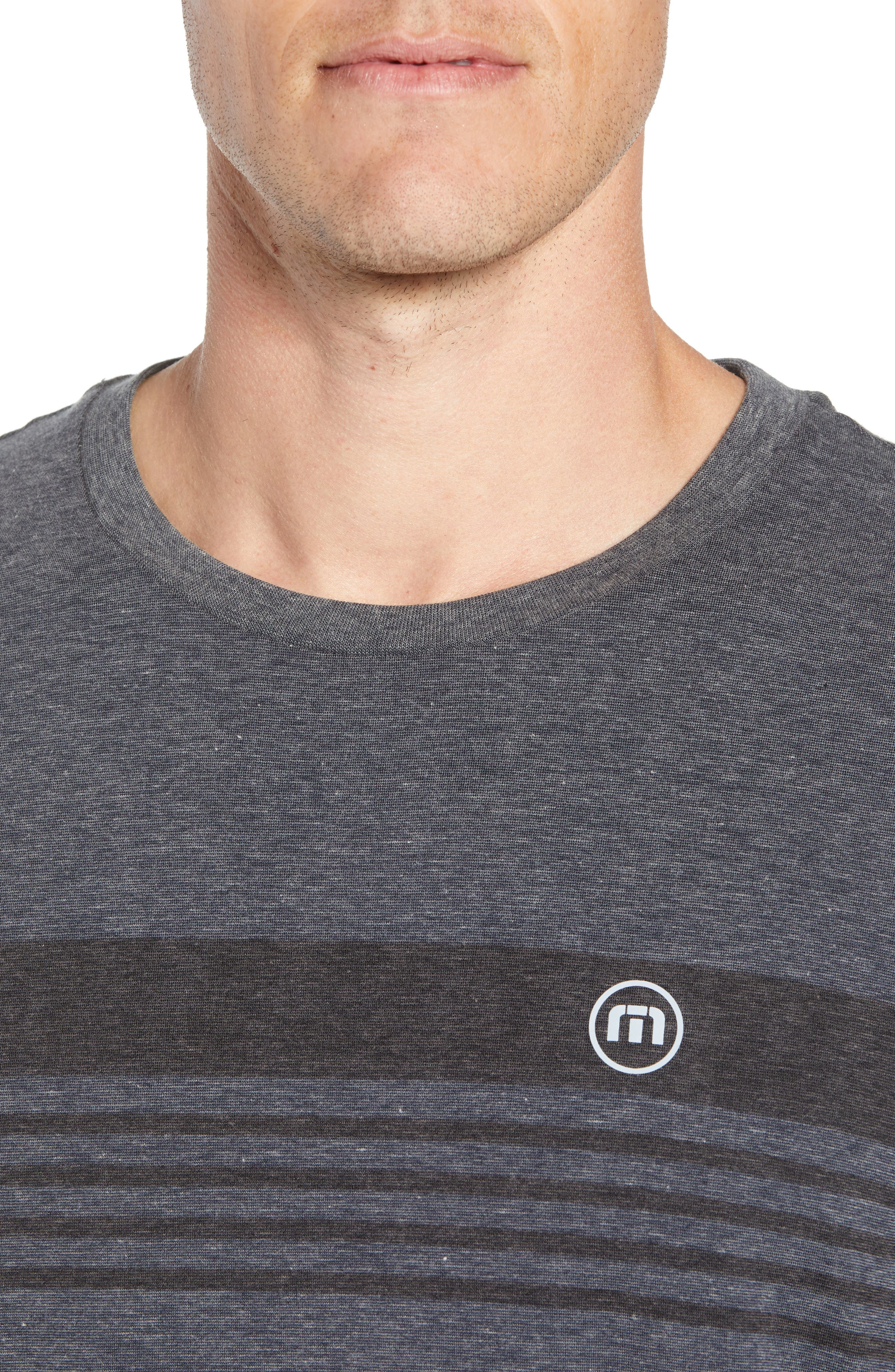 Recline Performance T-Shirt,                             Alternate thumbnail 4, color,                             HEATHER MAGNET
