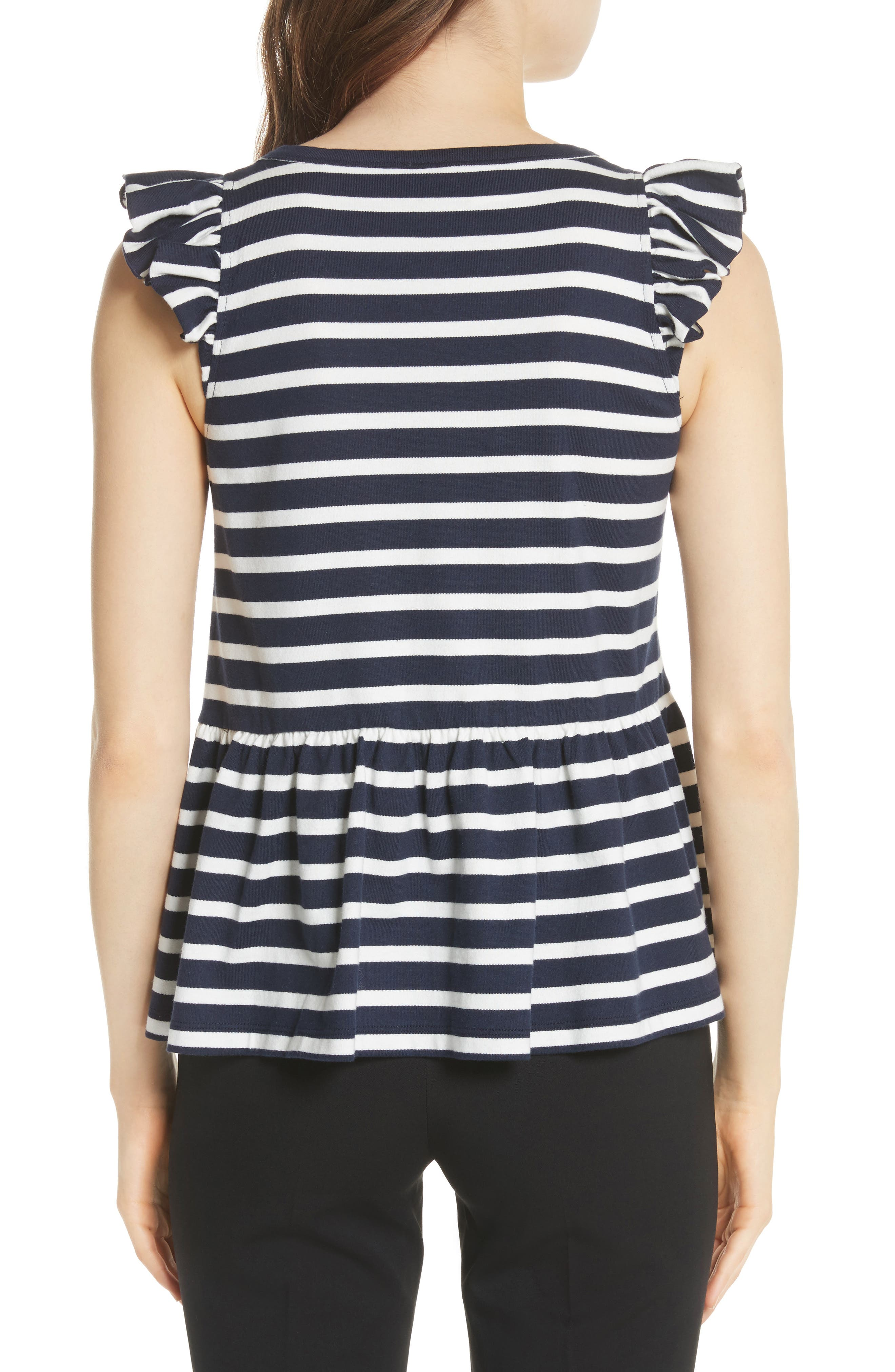 lace-up stripe tee,                             Alternate thumbnail 2, color,